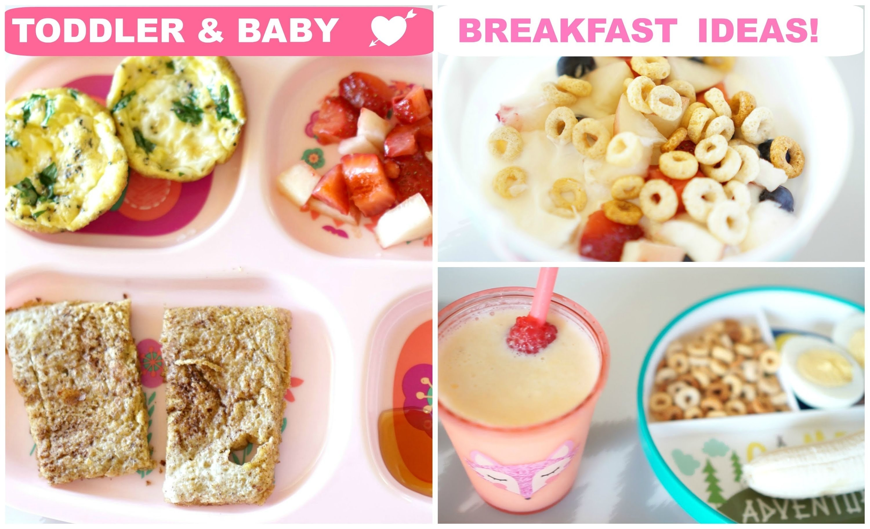 10 Lovable Breakfast Ideas For One Year Old breakfast ideas for toddler baby youtube 2021