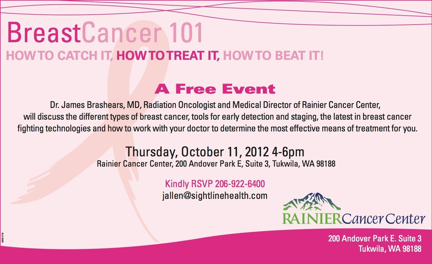 10 Stunning Breast Cancer Awareness Event Ideas breast cancer 101 awareness event is thursday at rainier cancer 2020