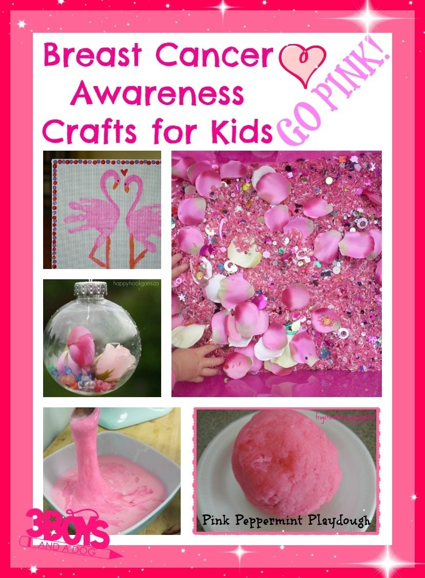 breast cancer awareness activities for kids! perfect for elementary