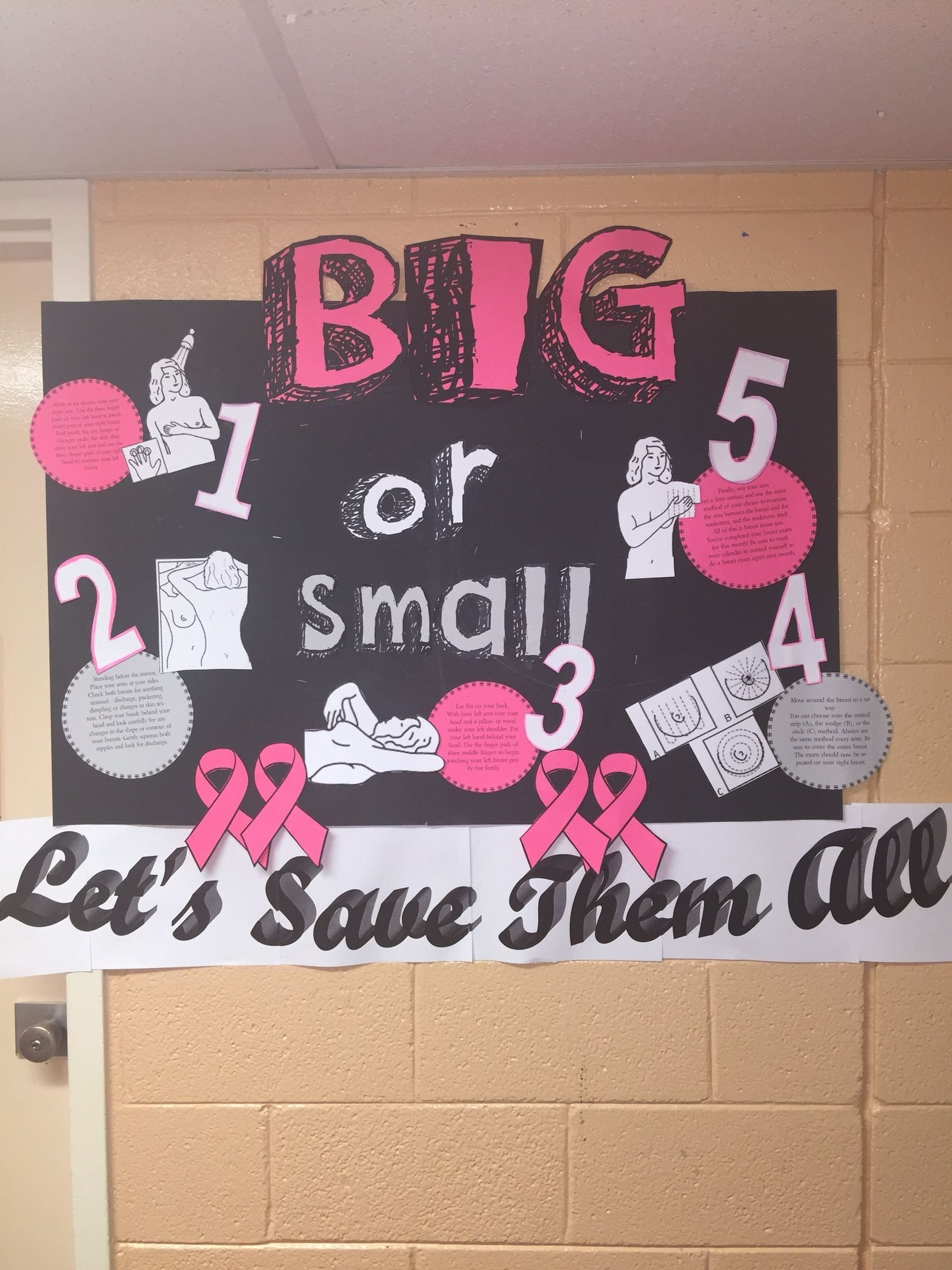 10 Stunning Breast Cancer Awareness Bulletin Board Ideas breast cancer awareness bulletin boards pinterest cancer 2021