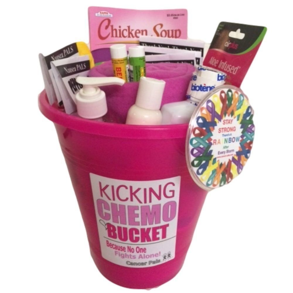 10 Great Gift Ideas For Cancer Patients breast cancer patient and chemotherapy gift basket kicking chemo