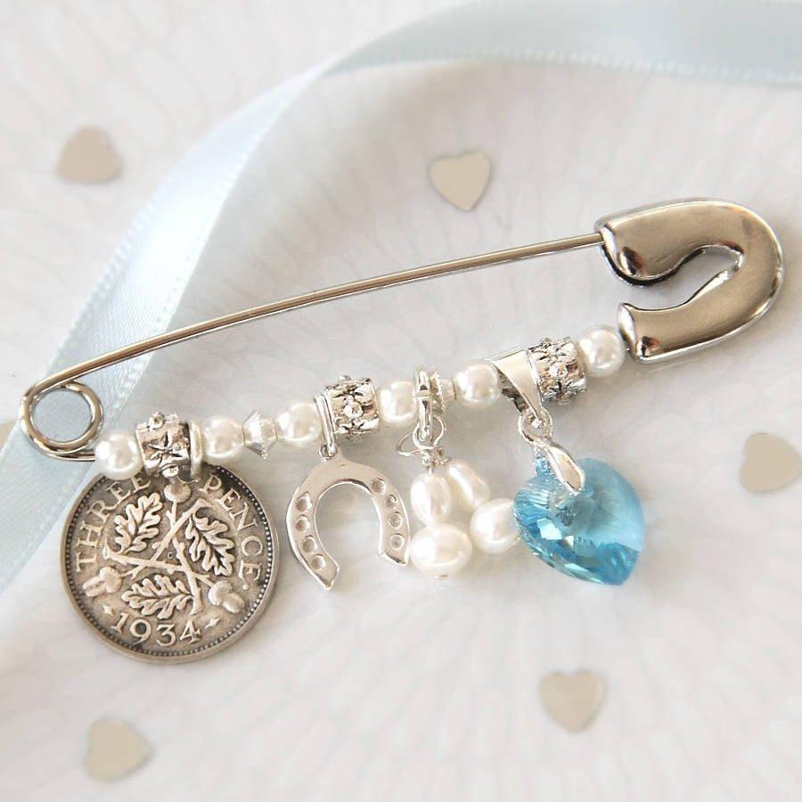 bridal charm pinbetty's glamour box | notonthehighstreet