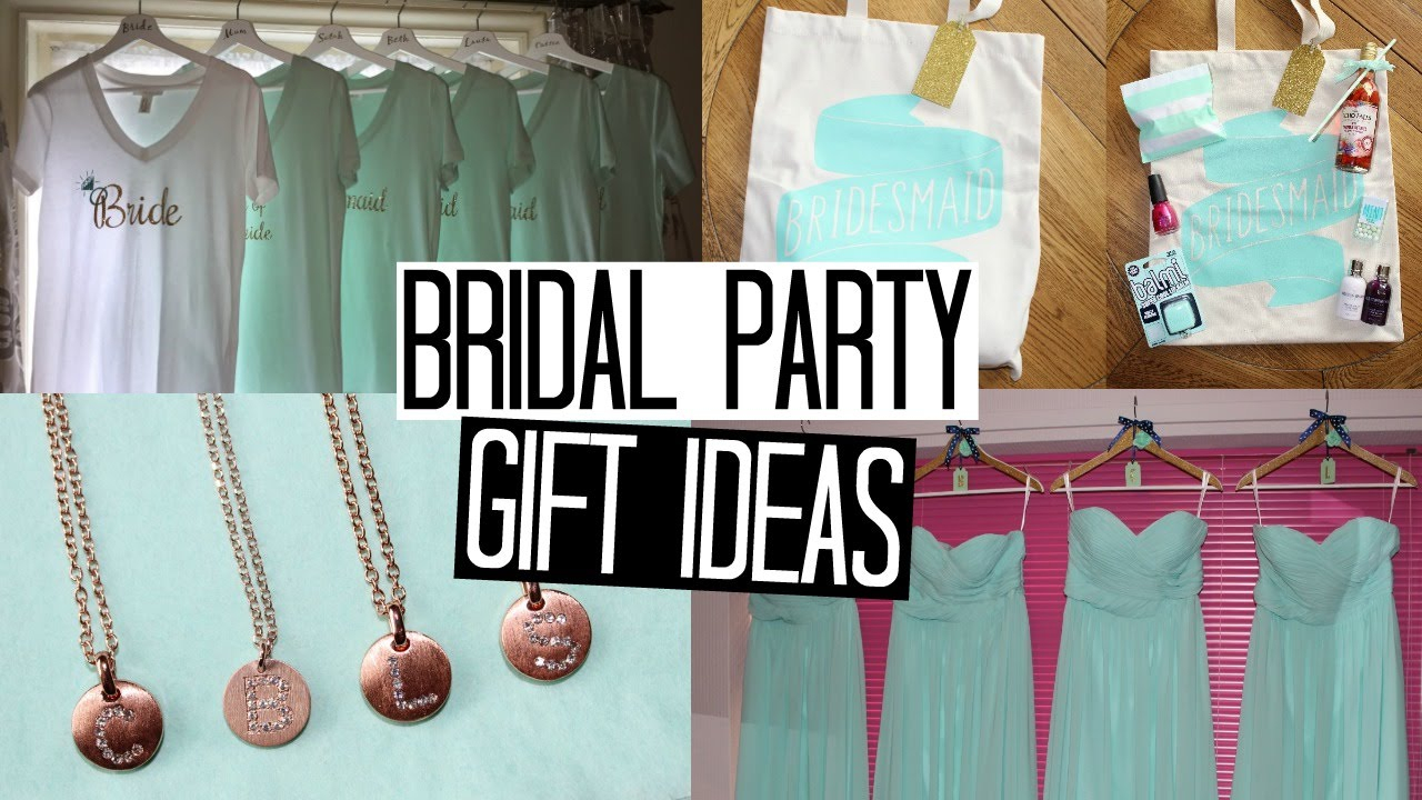 10 Cute Gift Ideas For A Bride bridal party gift ideas part 1 wedding inspiration series youtube 2 2020