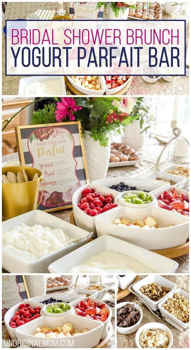 bridal shower brunch yogurt parfait bar | yogurt parfait bar, baby