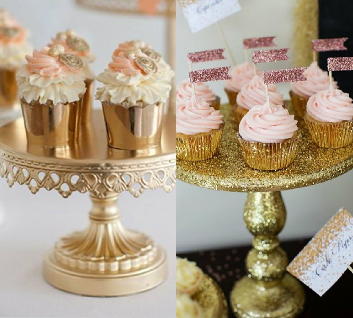 bridal shower cupcake ideas - baby shower party decor