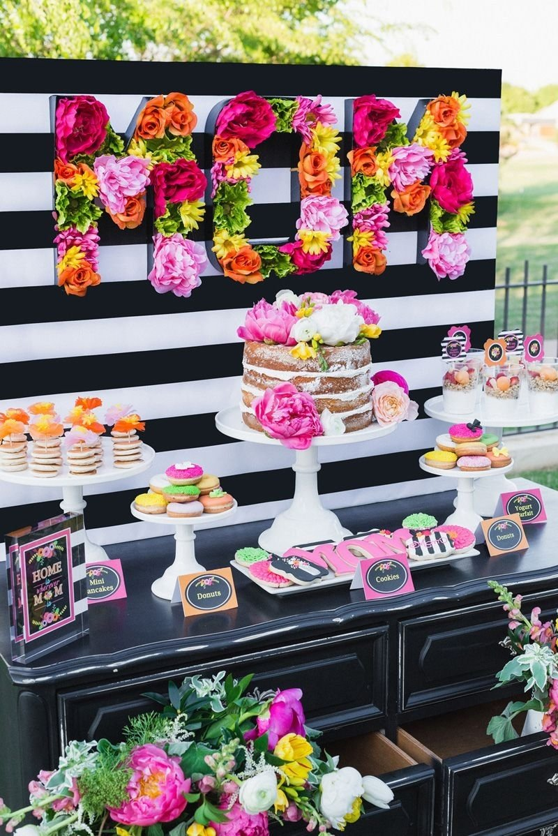 10 Nice 60Th Birthday Party Ideas For Mom bridal shower dessert table fun stuff holidays pinterest 1 2020