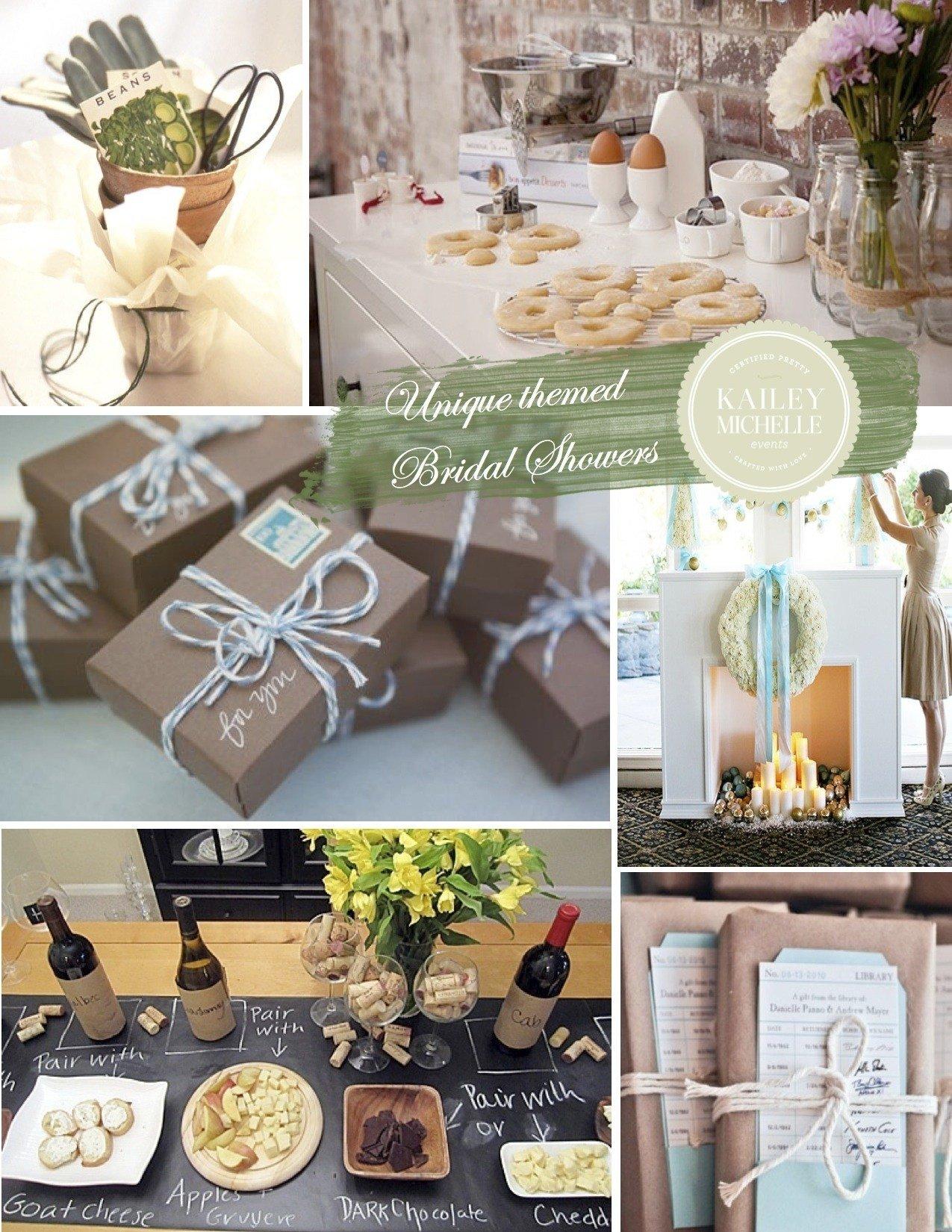 10 fashionable unique bridal shower theme ideas
