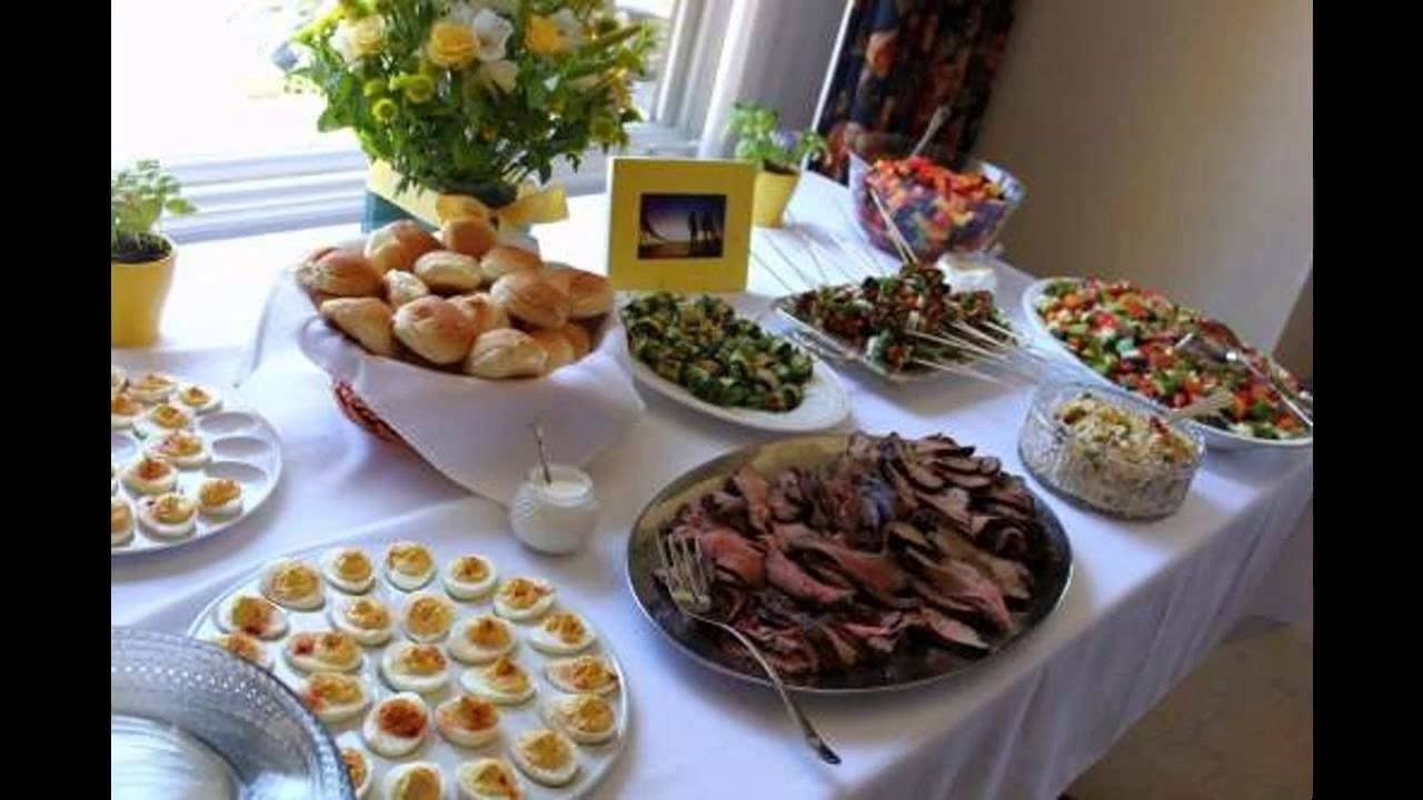 bridal shower party food ideas - youtube