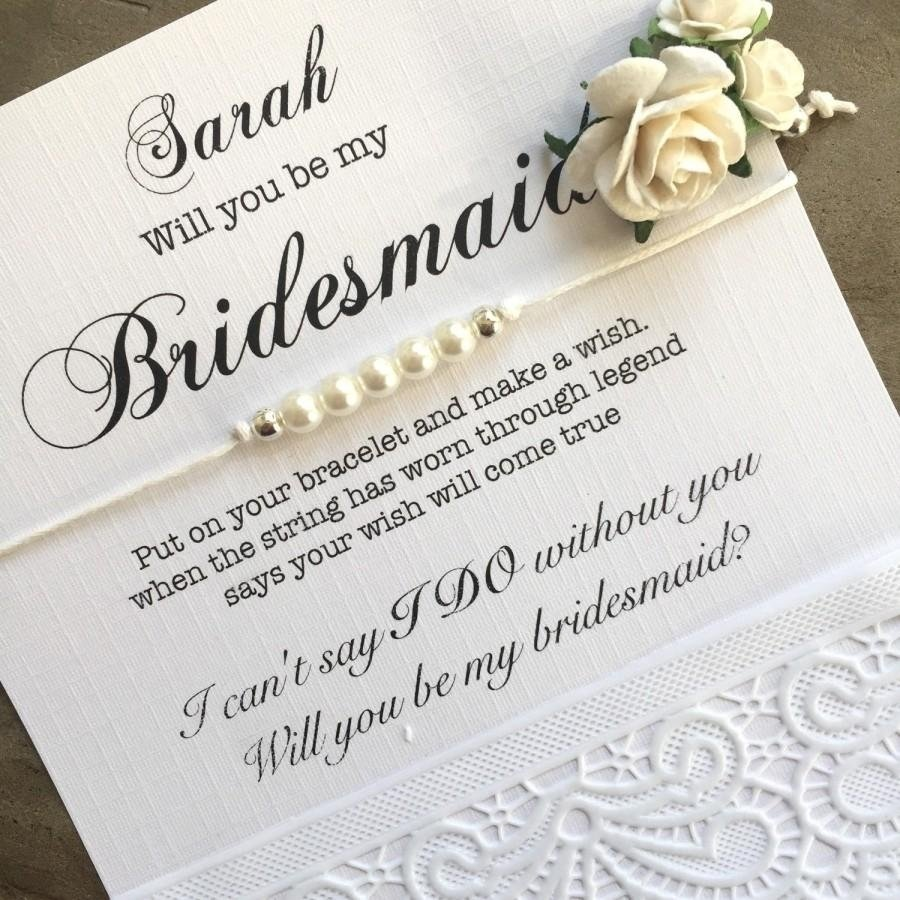 10 Unique Will You Be My Flower Girl Ideas bridesmaid gift bridesmaid proposal pearl braceletwill you be 2020