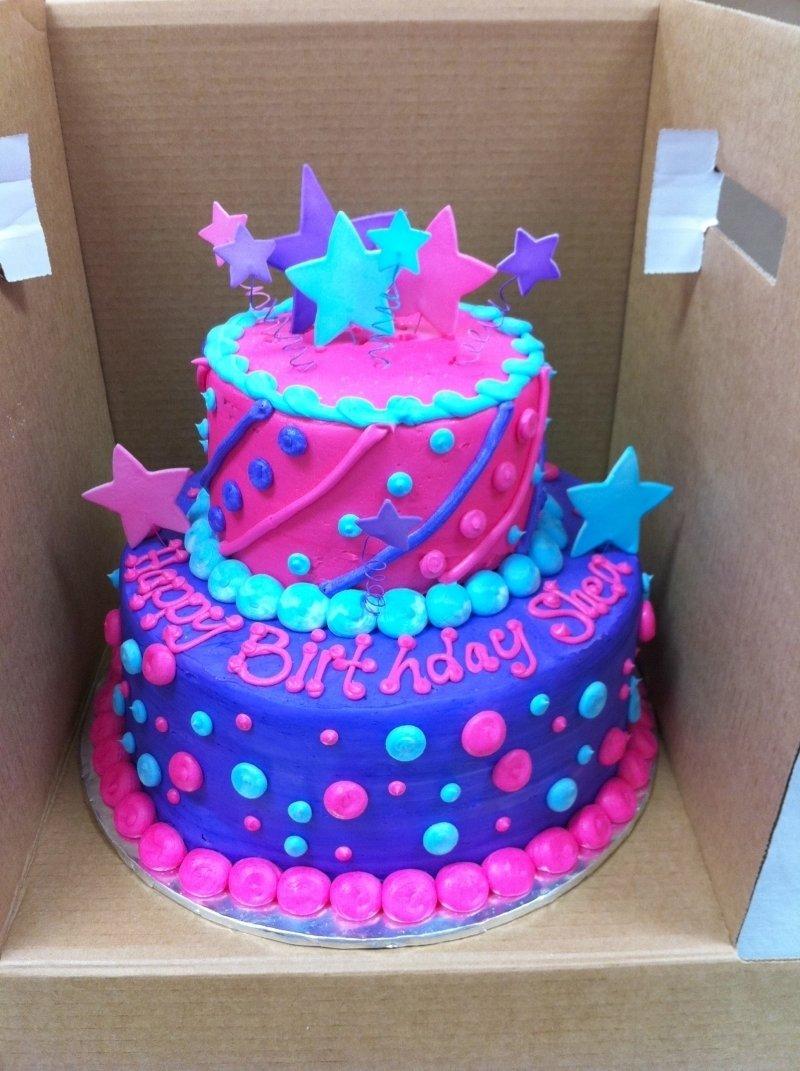 10 Pretty Birthday Cake Ideas For Girls bright cake fun cake wire stars birthday cake kids pinterest 2021