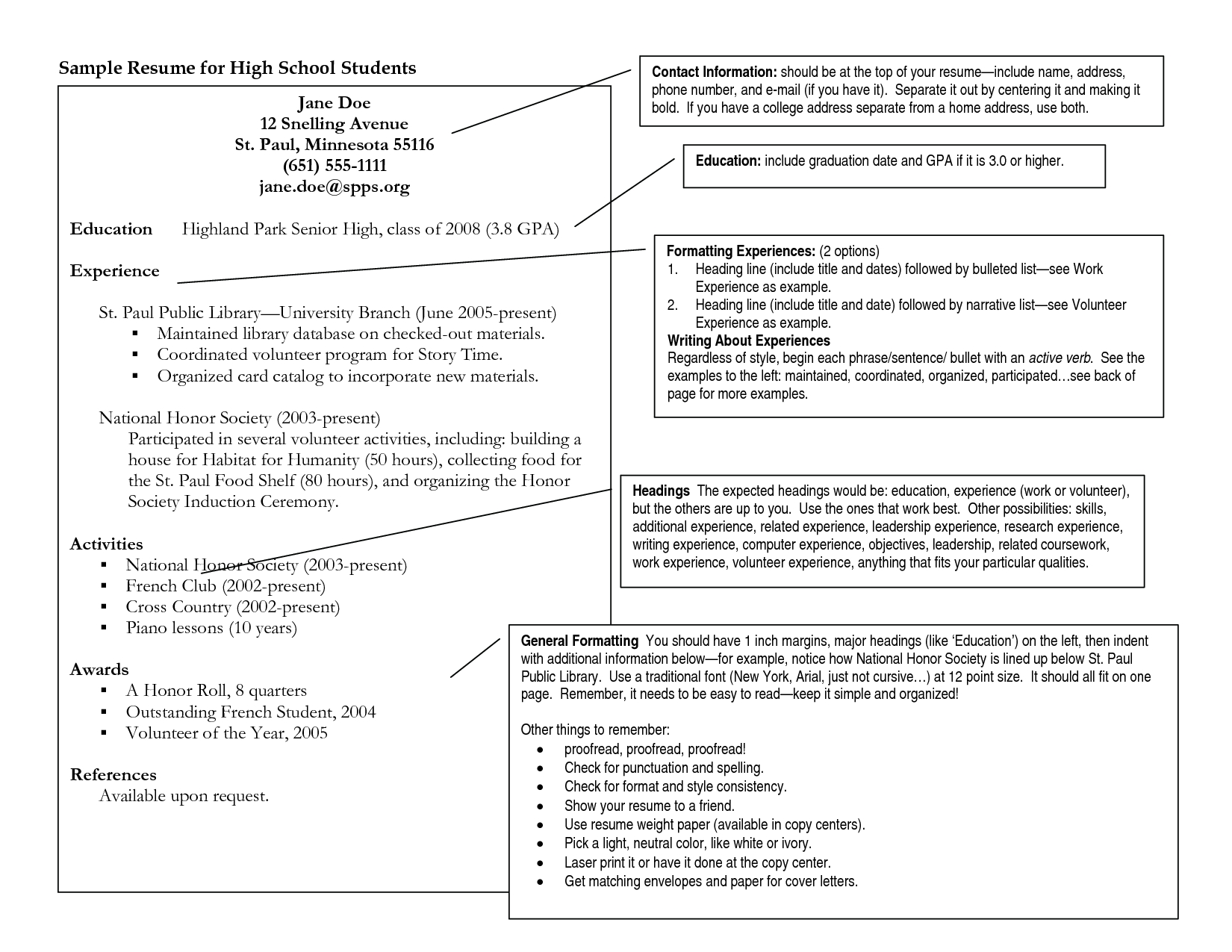 10 Unique Volunteer Ideas For Highschool Students brilliant ideas of college resumes examples for highschool students 1 2020