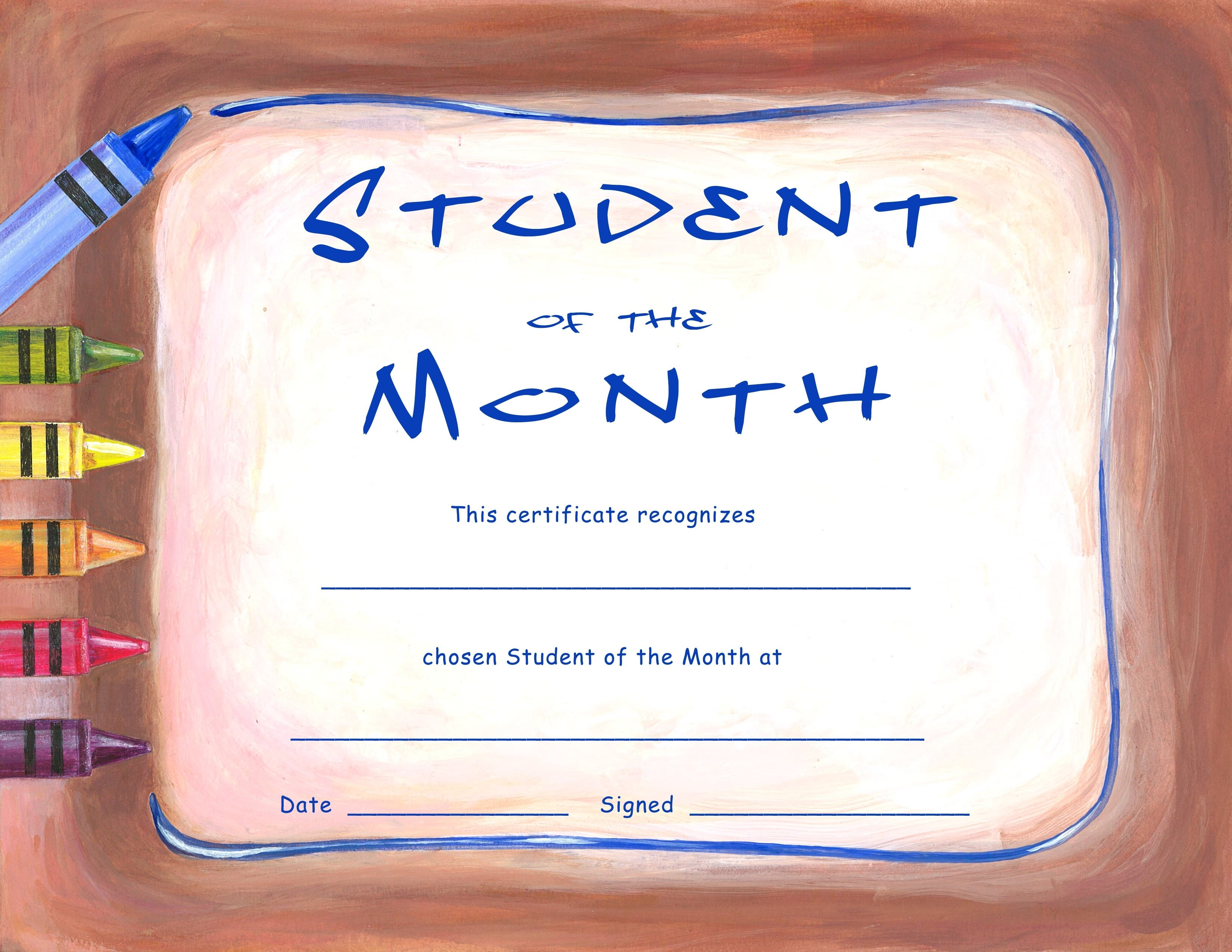 10 Nice Student Of The Month Ideas brilliant ideas of printable student of the month certificate on 2020