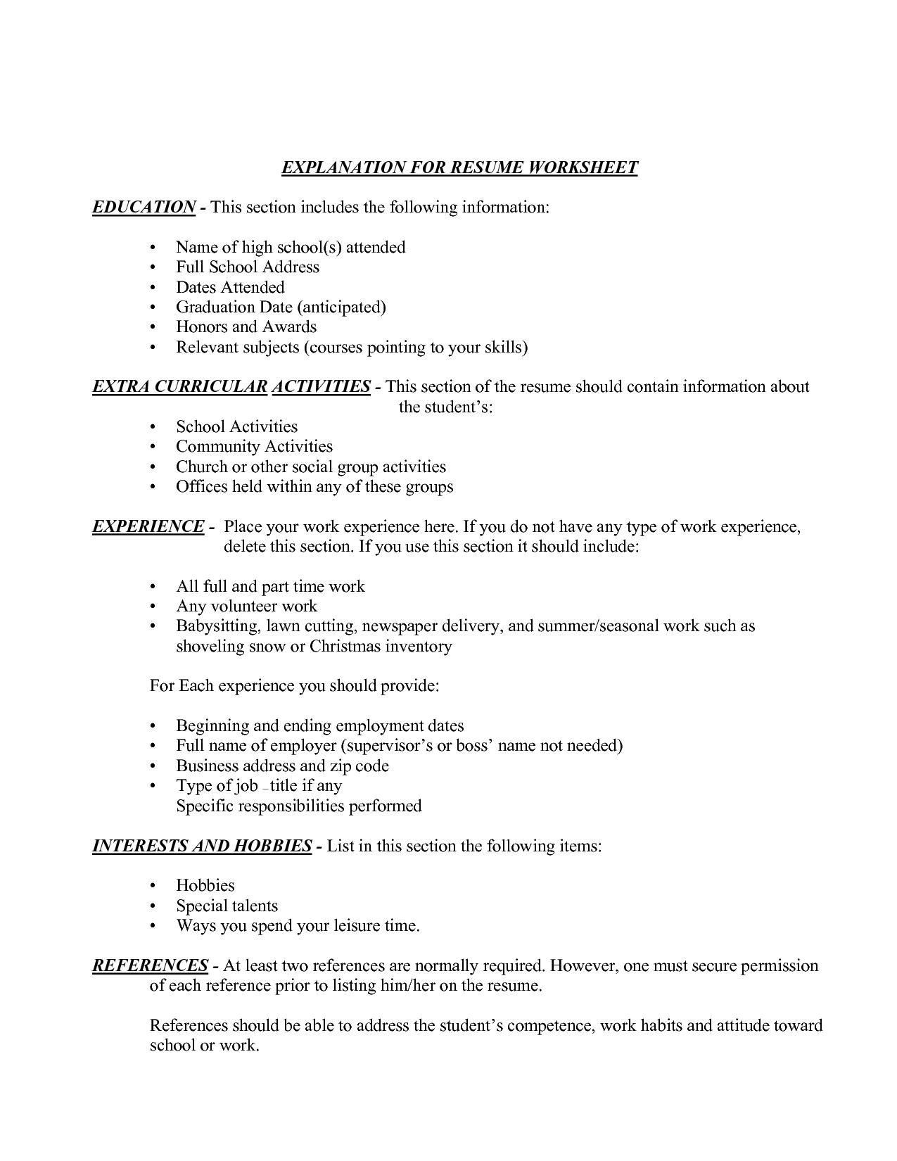 10 Unique Volunteer Ideas For Highschool Students brilliant ideas of resume education examples for highschool students 2020