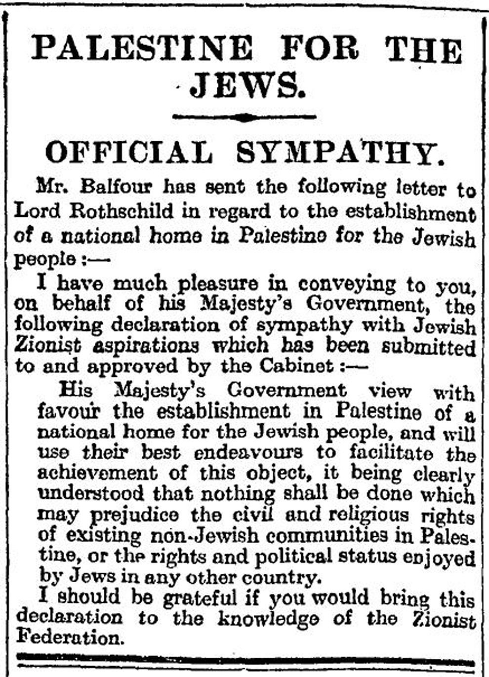 10 Fantastic The Balfour Declaration Of 1917 Supported The Idea Of A britain supports zionism national geographic society 2020