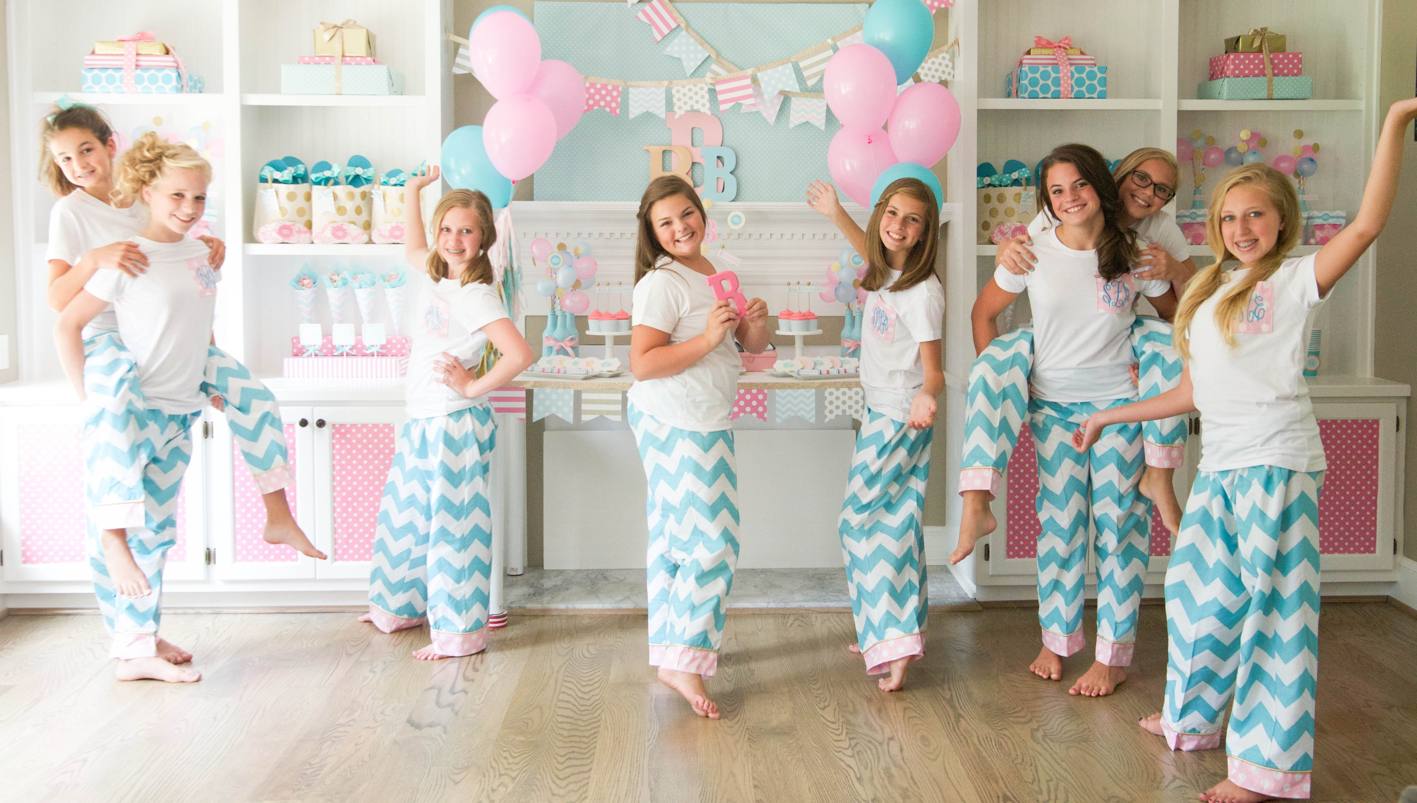 10 Most Popular 15Th Birthday Party Ideas For Girls brynnes monogram slumber birthday party for balloon times party on 1
