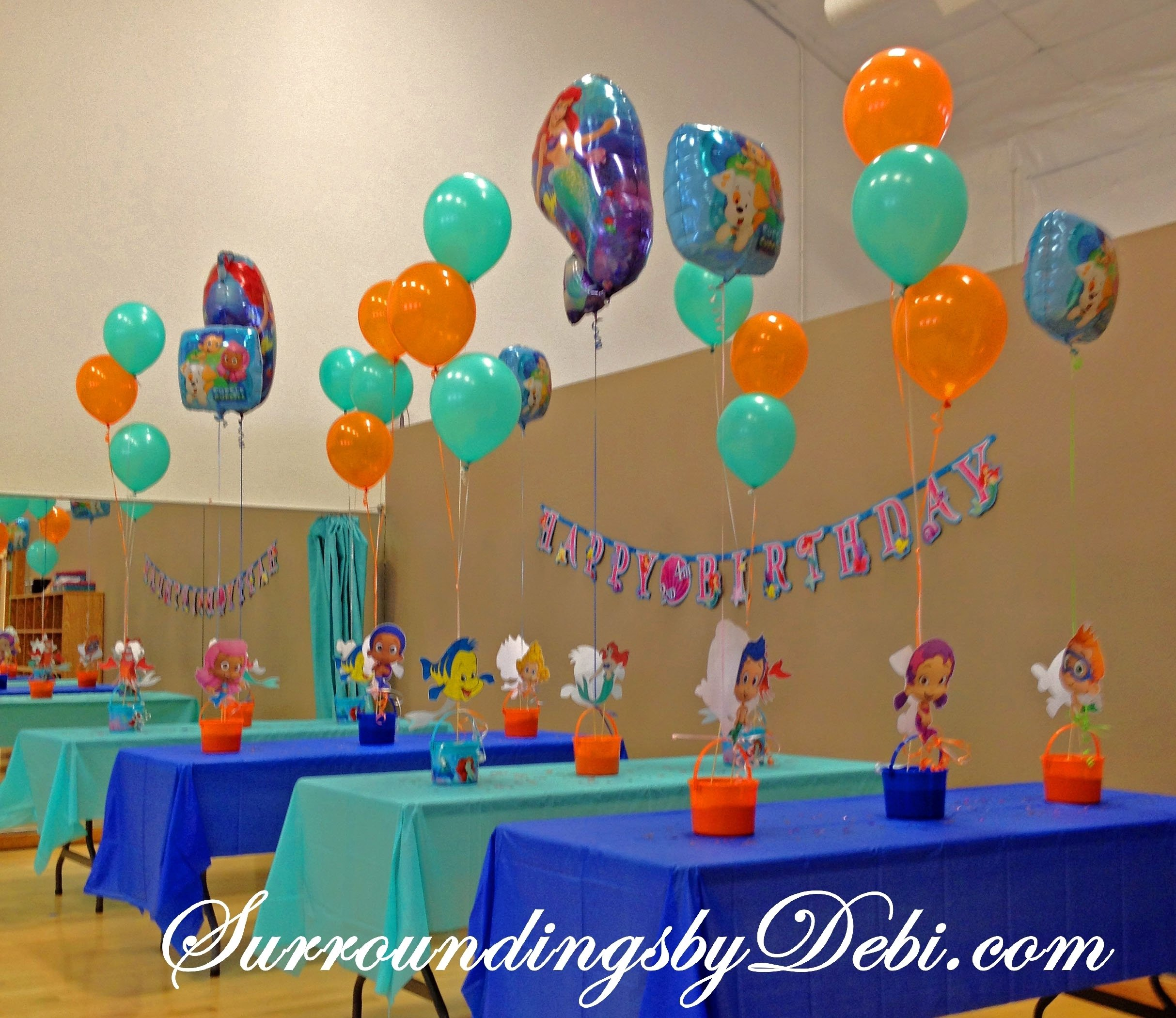 bubble guppies / ariel birthday party! lets celebrate! | bubble