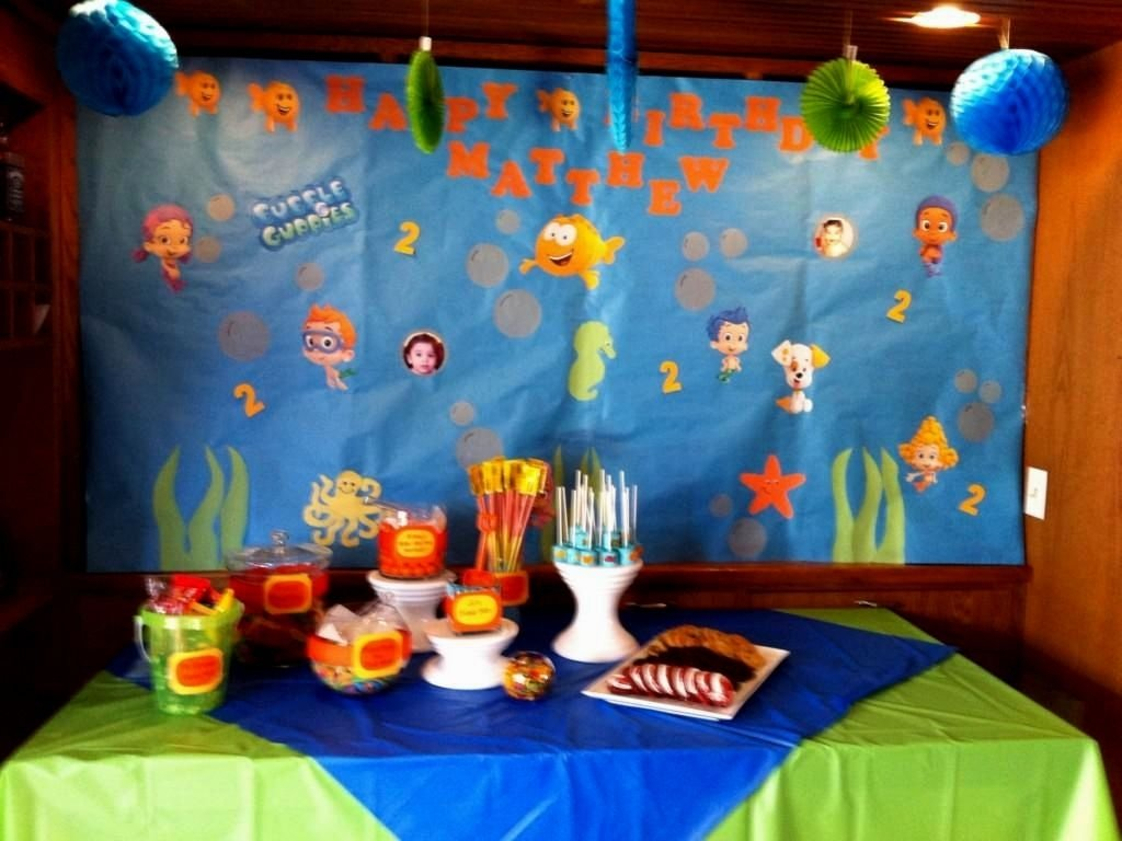 10 Fashionable Bubble Guppie Birthday Party Ideas bubble guppies birthday party ideas decorating of party 1