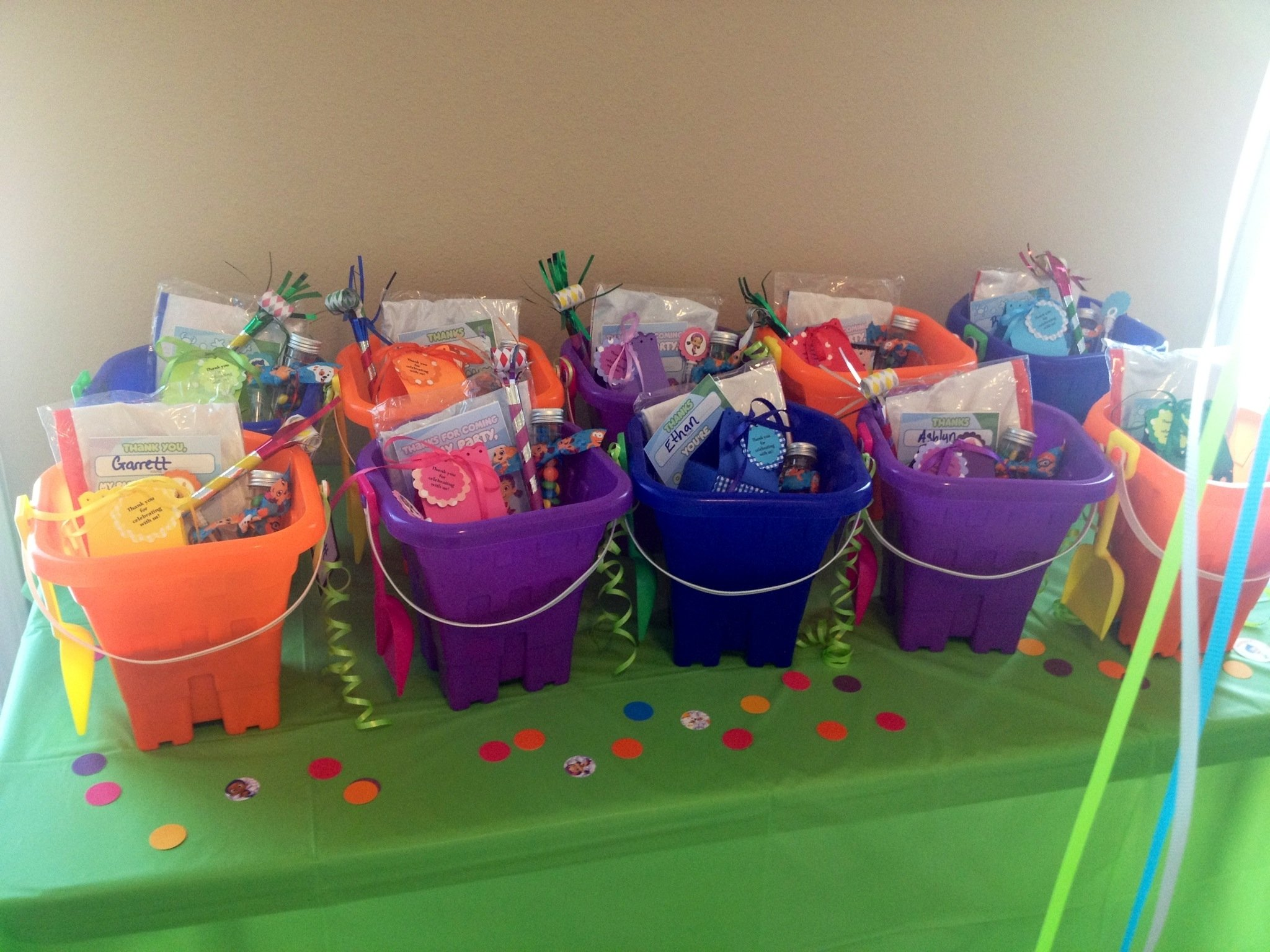 bubble guppies party favor buckets | bubble guppies party