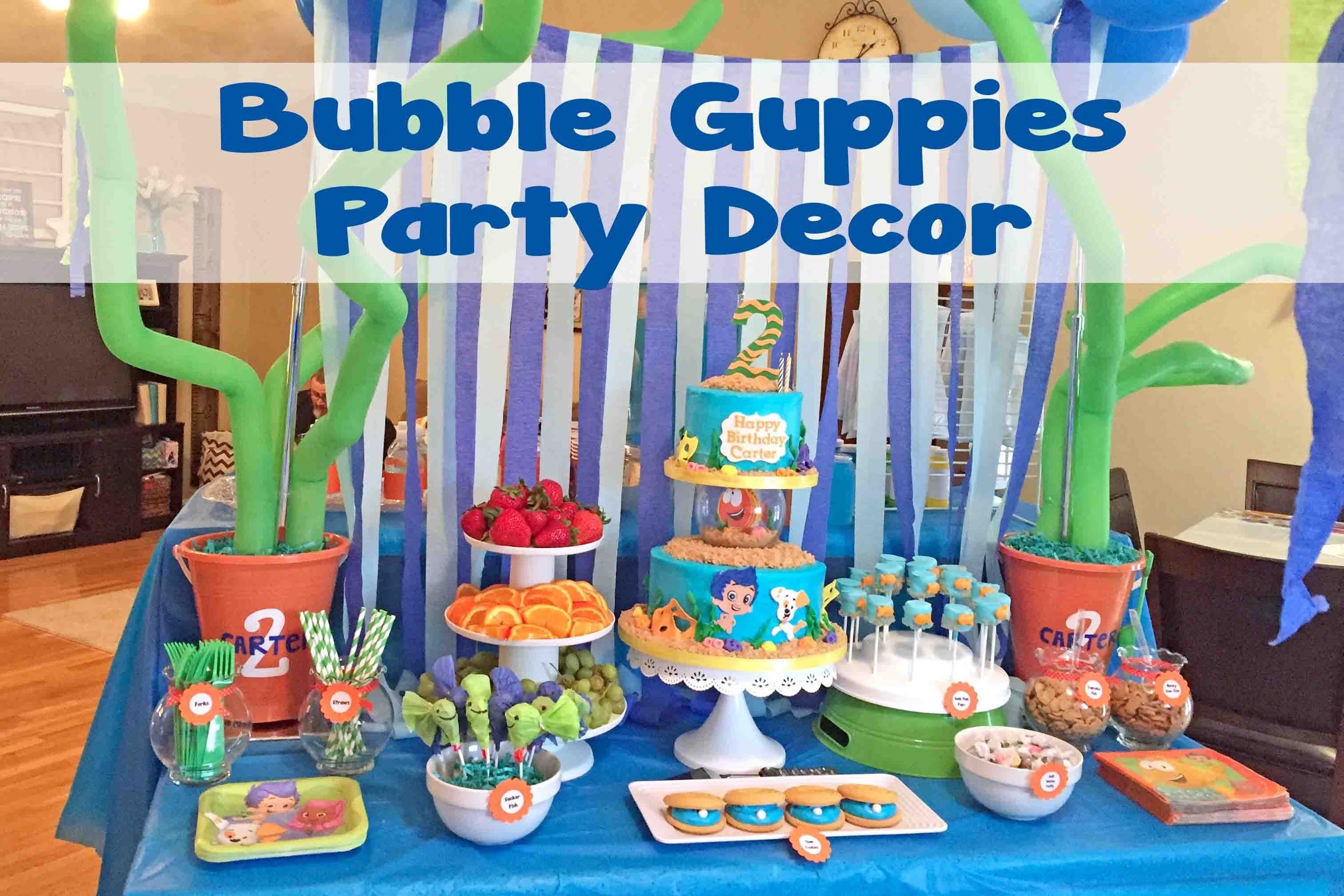 10 Fashionable Bubble Guppie Birthday Party Ideas bubble guppies under the sea party decor 48 youtube 3