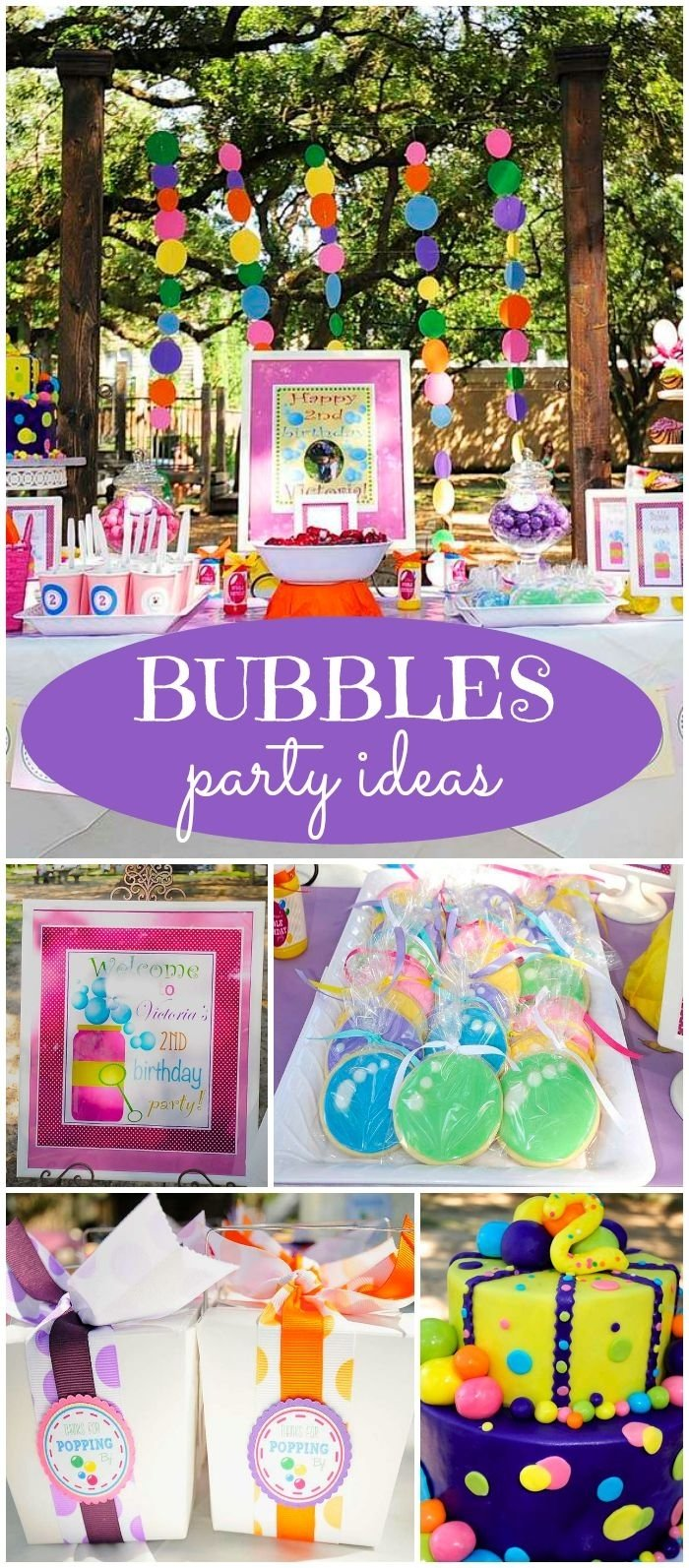 10 Stylish 2Nd Birthday Party Ideas Girl bubbles birthday victorias bubbles themed 2nd birthday party 2020