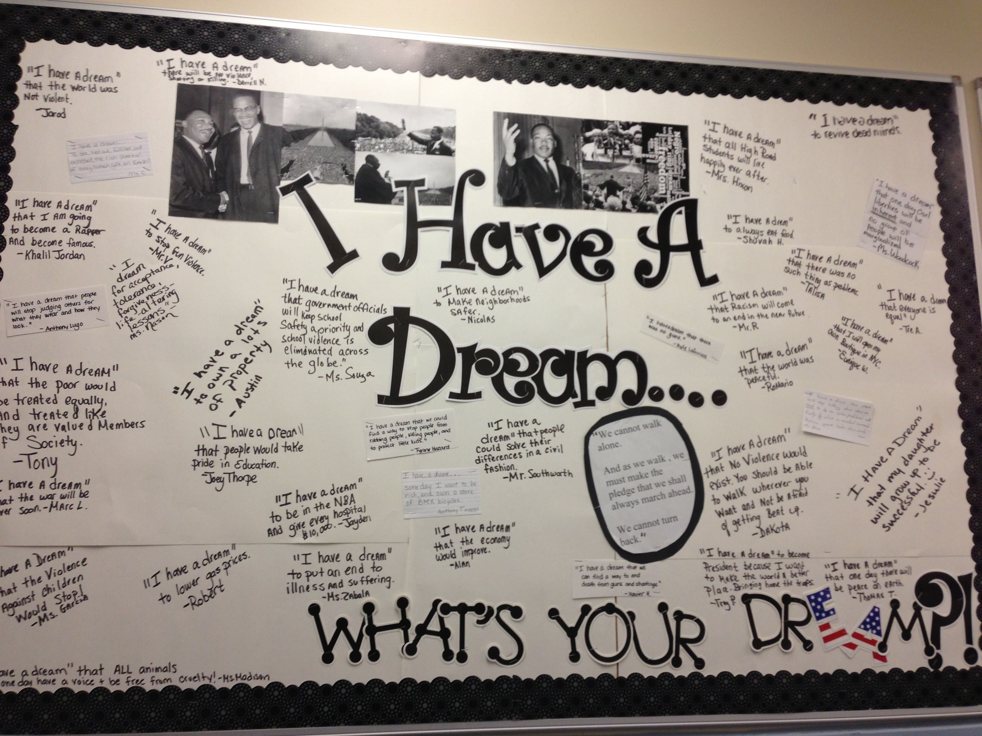 10 Cute Martin Luther King Bulletin Board Ideas bulletin board for martin luther king day all of the students 2020