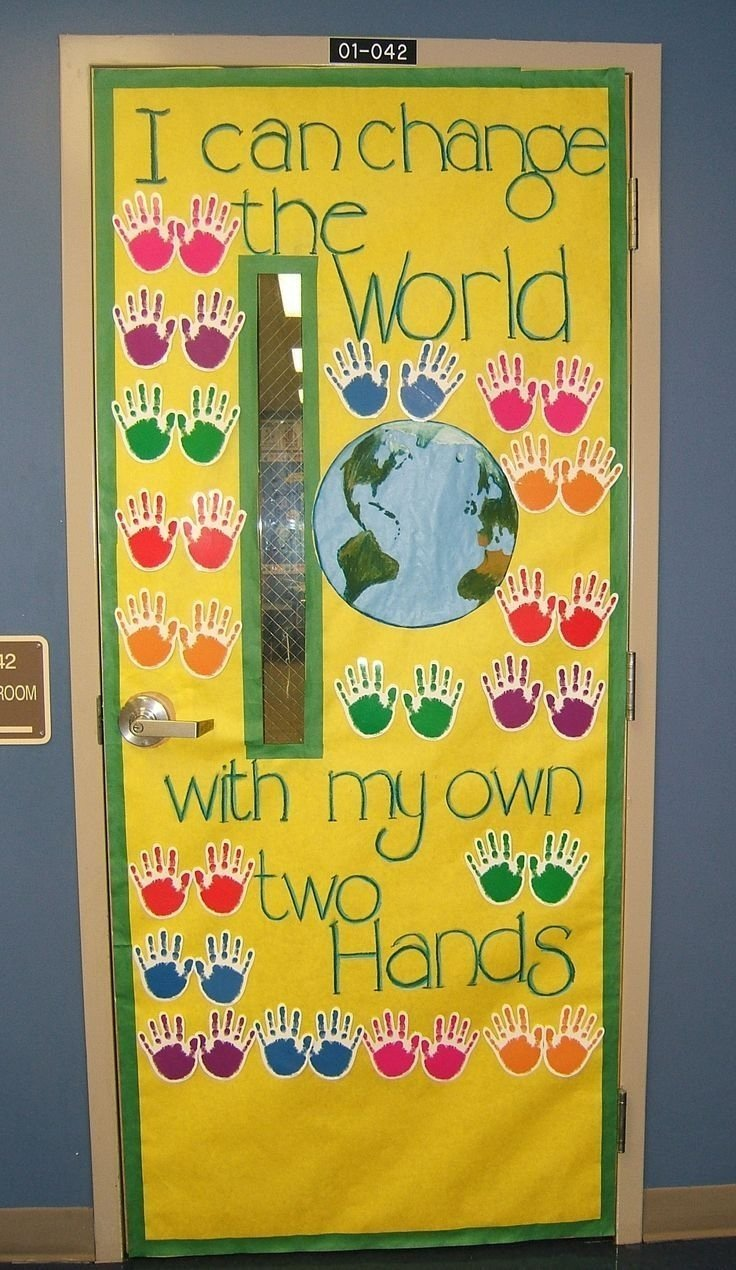 10 Wonderful Beginning Of The Year Bulletin Board Ideas bulletin board idea i can change the world with my own two hands 2020