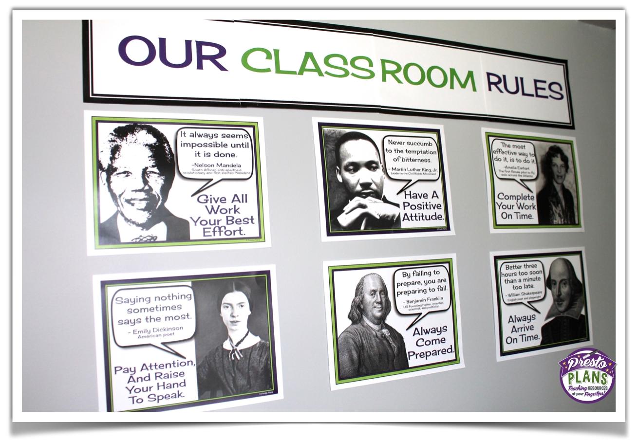 bulletin board ideas for middle & high school english