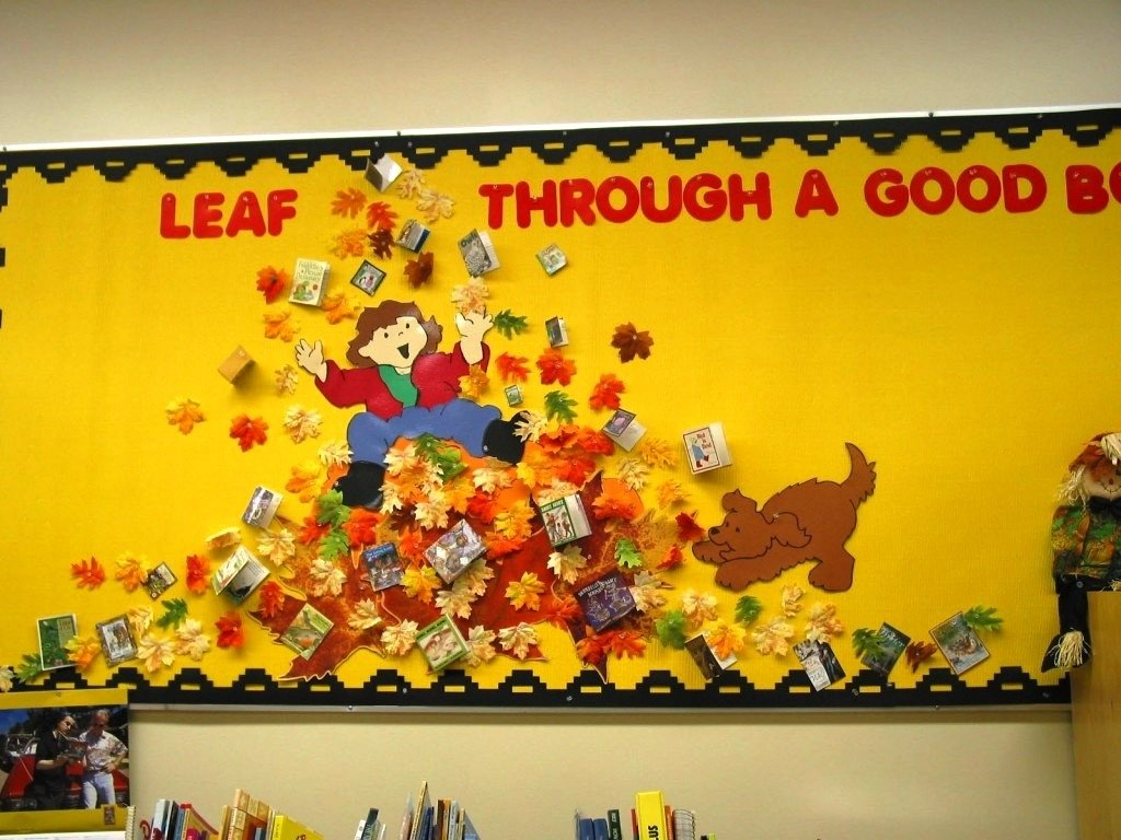 10 Nice Fall Library Bulletin Board Ideas bulletin board school venture home decorations best library 2020