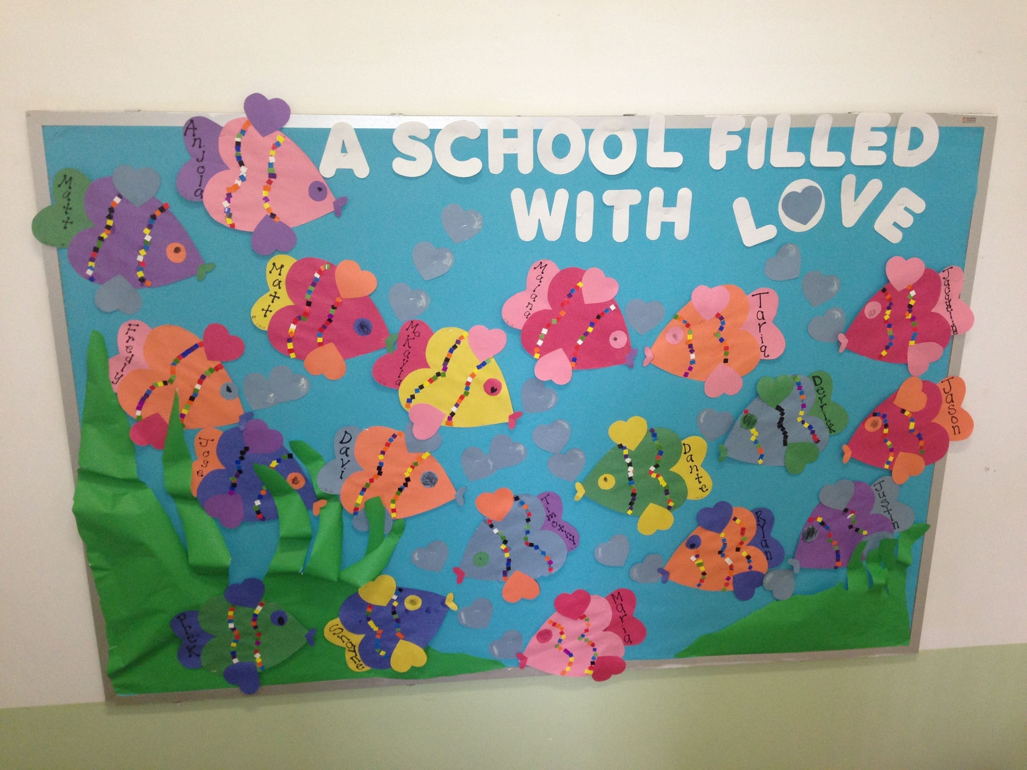 bulletin boards - thrifty scissors: a conversational heart bulletin