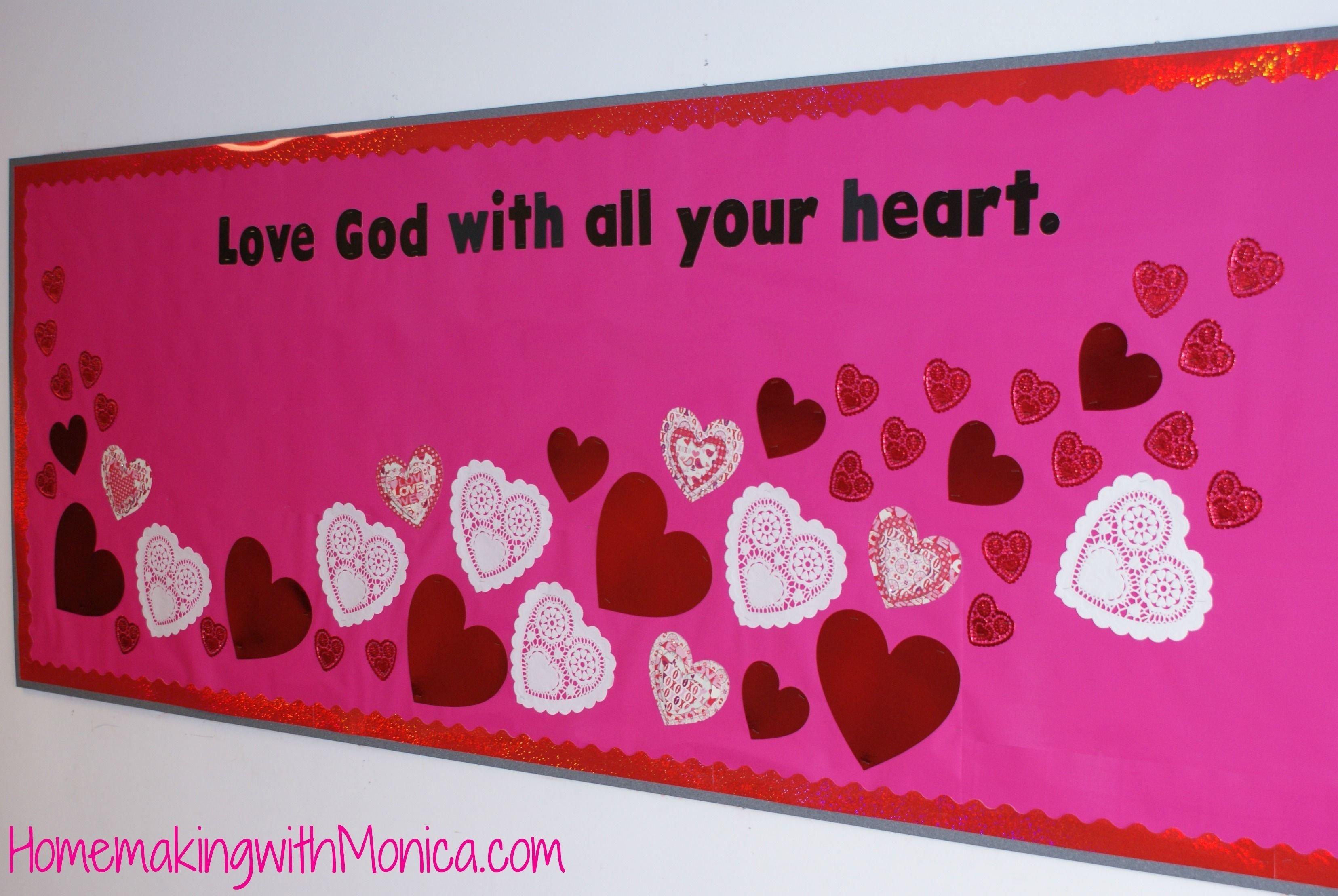 bulletin – happy valentine's   bulletin boards   pinterest   church