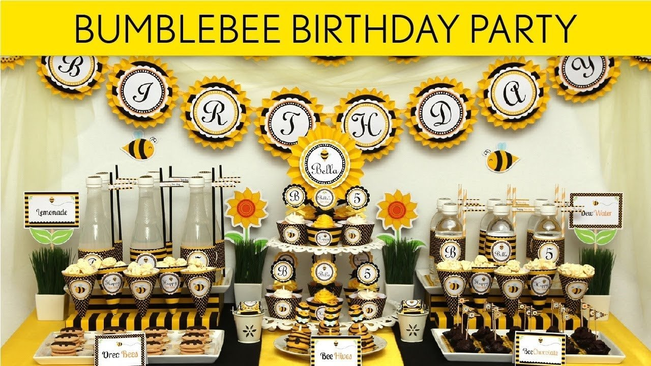 bumblebee birthday party ideas // smiling bumblebee - b28 - youtube