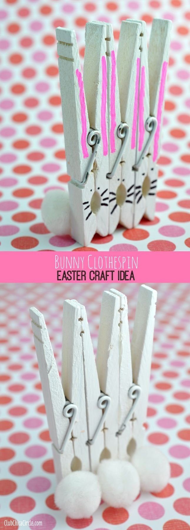 10 Great Easter Craft Ideas For Adults bunny clothespins easter craft idea and diy club chica circle