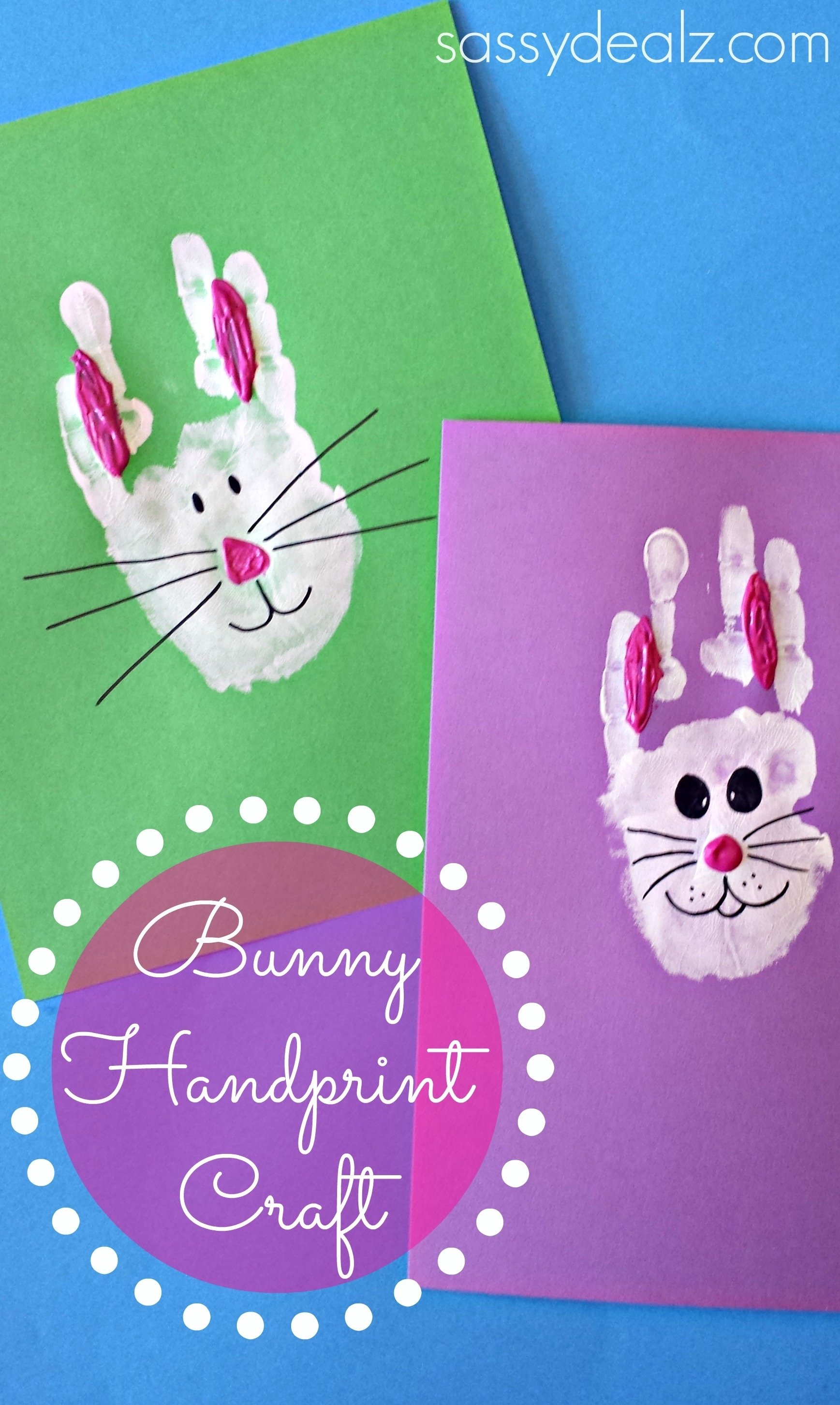 10 Stylish Easter Craft Ideas For Toddlers bunny rabbit handprint craft for kids easter idea crafty morning 1 2020