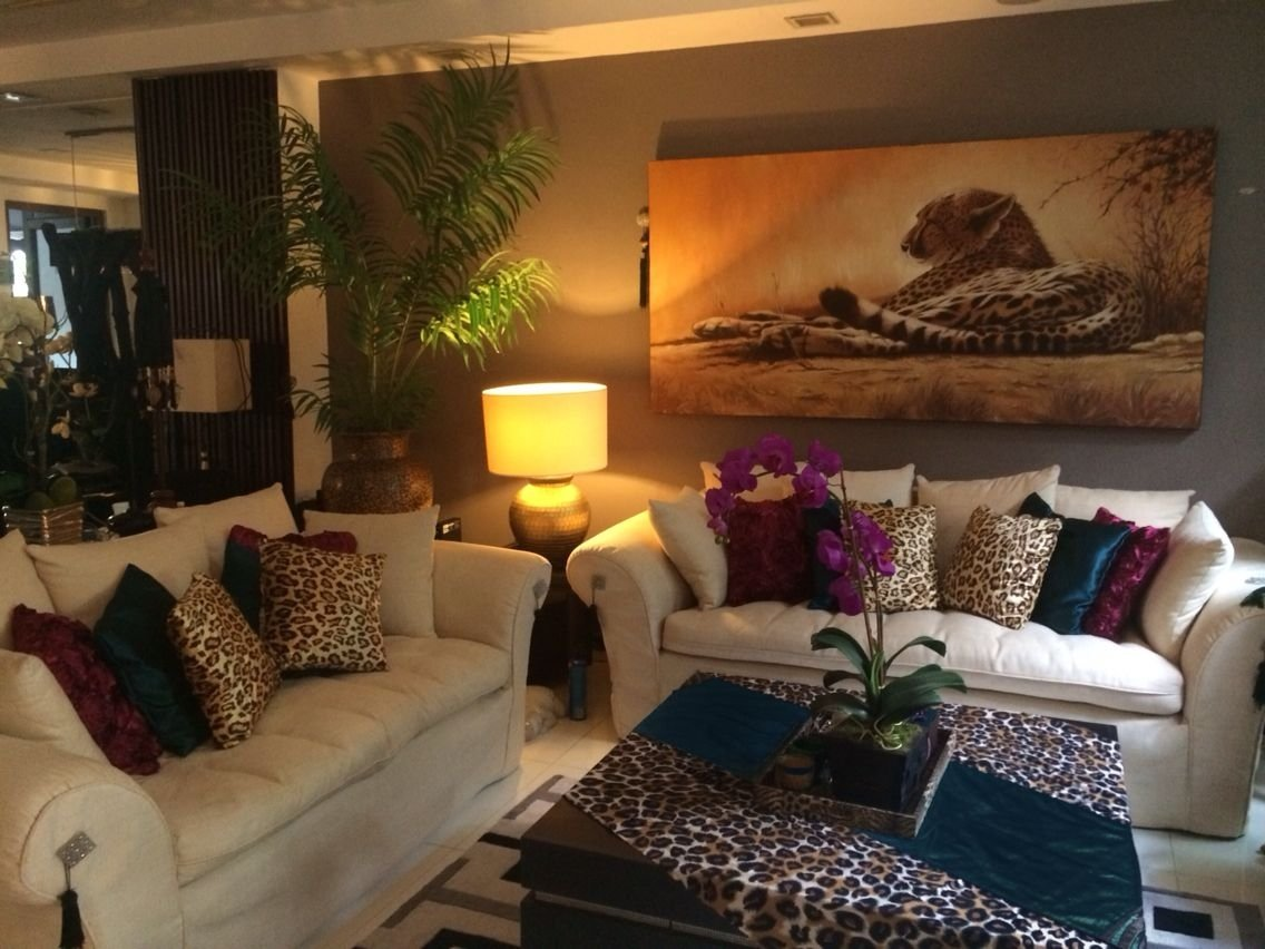 burgundy,teal and leopard print living room decor | same room