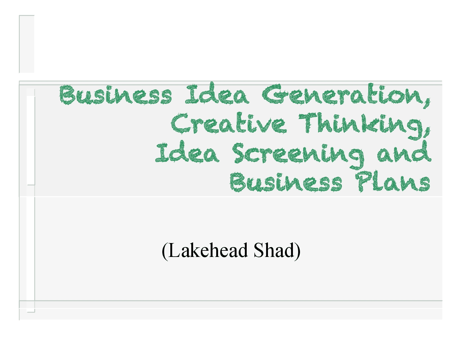 business idea generation process - docsity