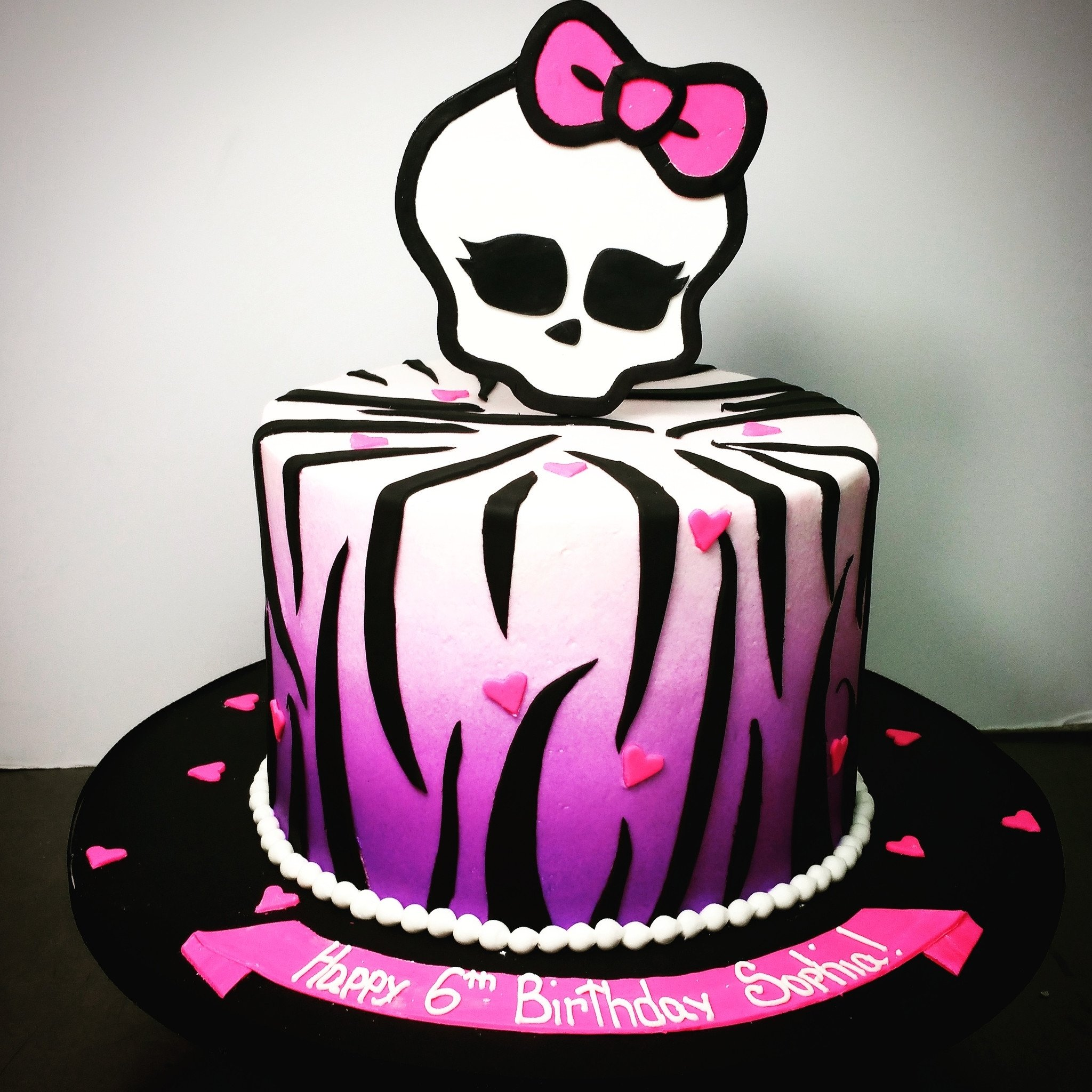 10 Lovable Monster High Birthday Cake Ideas buttercream monster high birthday cake pinteres 2020