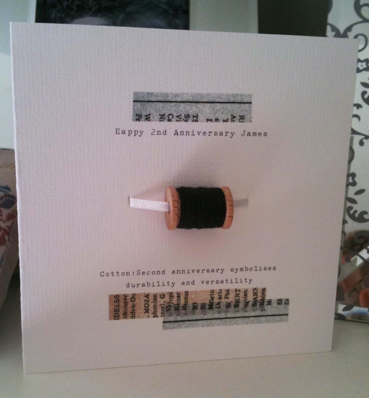 10 Best Second Wedding Anniversary Gift Ideas button box cards ltd 2nd wedding anniversary card 2 2020