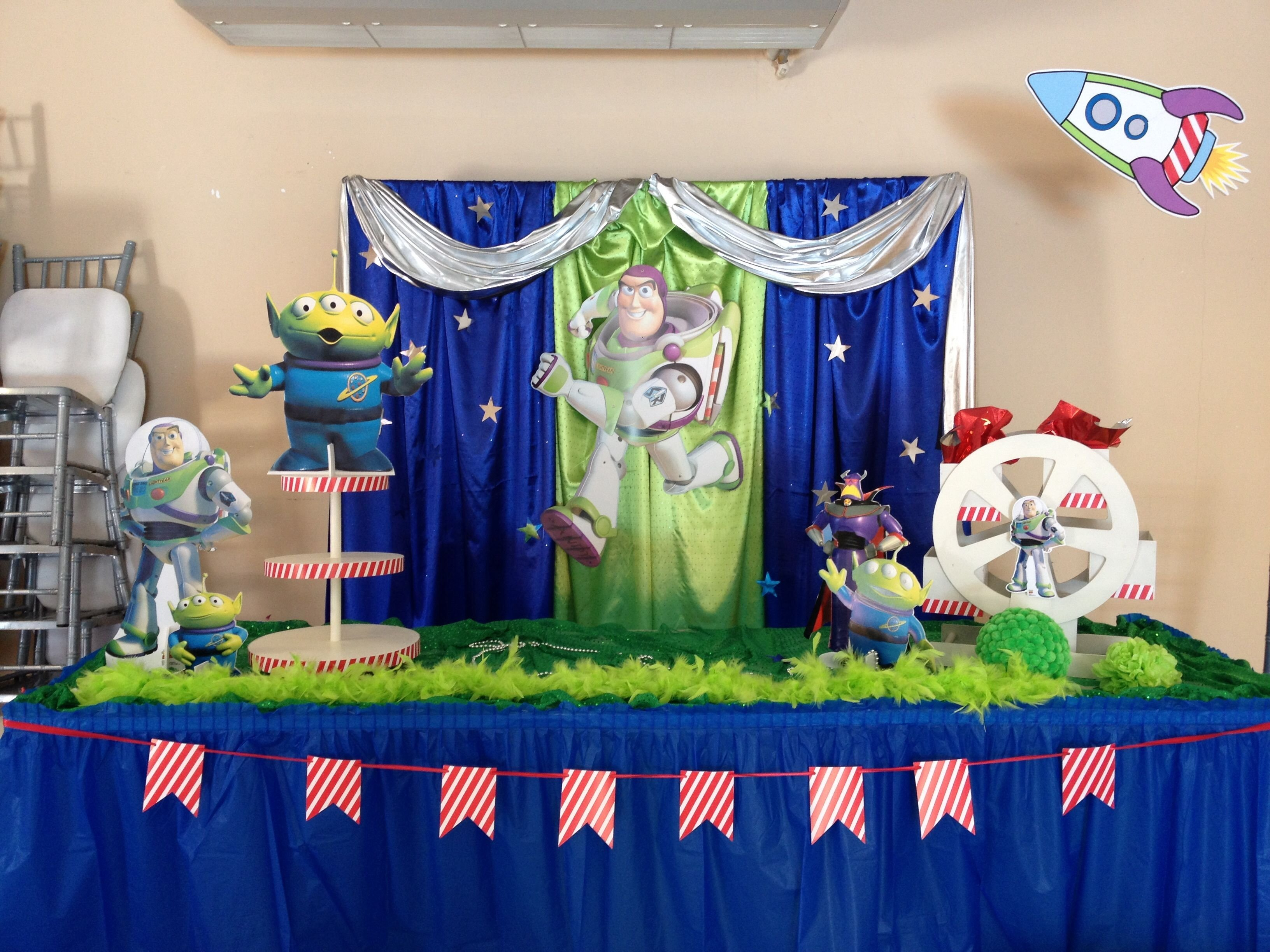 10 Most Recommended Buzz Lightyear Birthday Party Ideas buzz light year party ideaspink and blue buzz pinterest