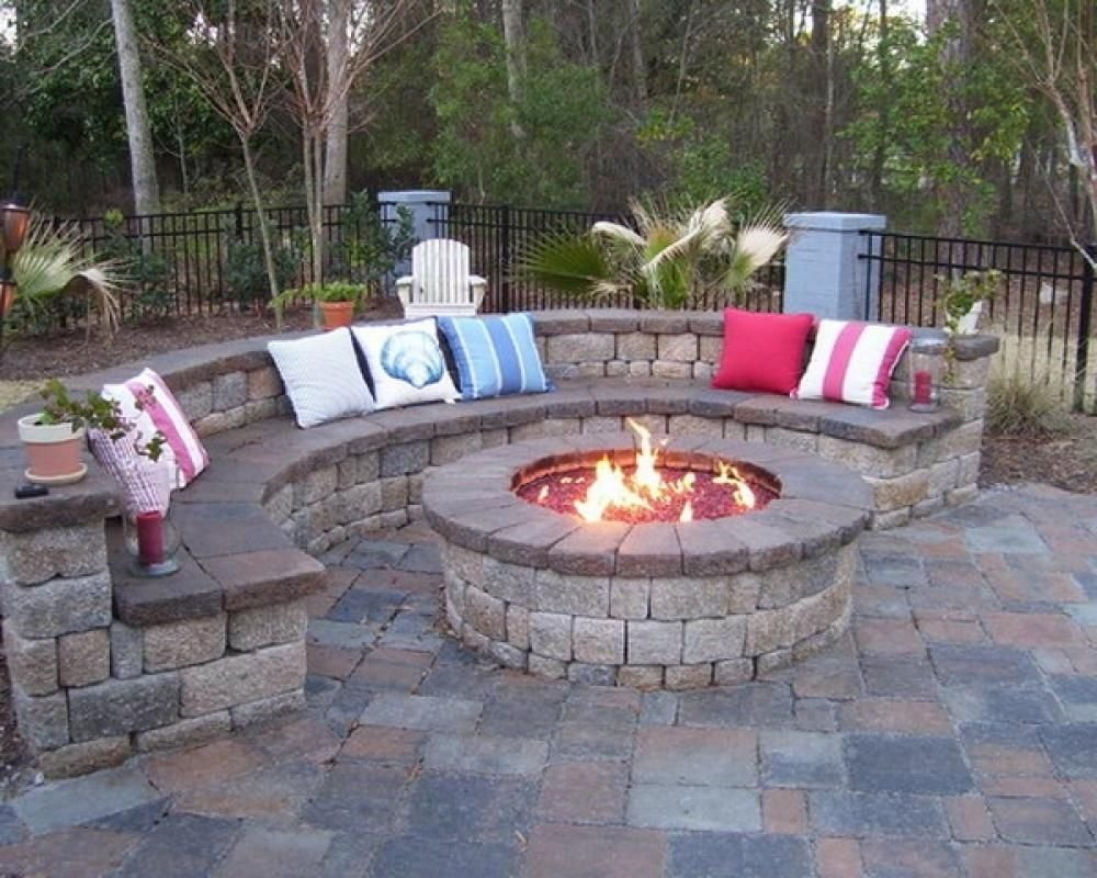 10 Lovely Patio Ideas With Fire Pit by the garage perfect for bon fires grilling and just hanging out