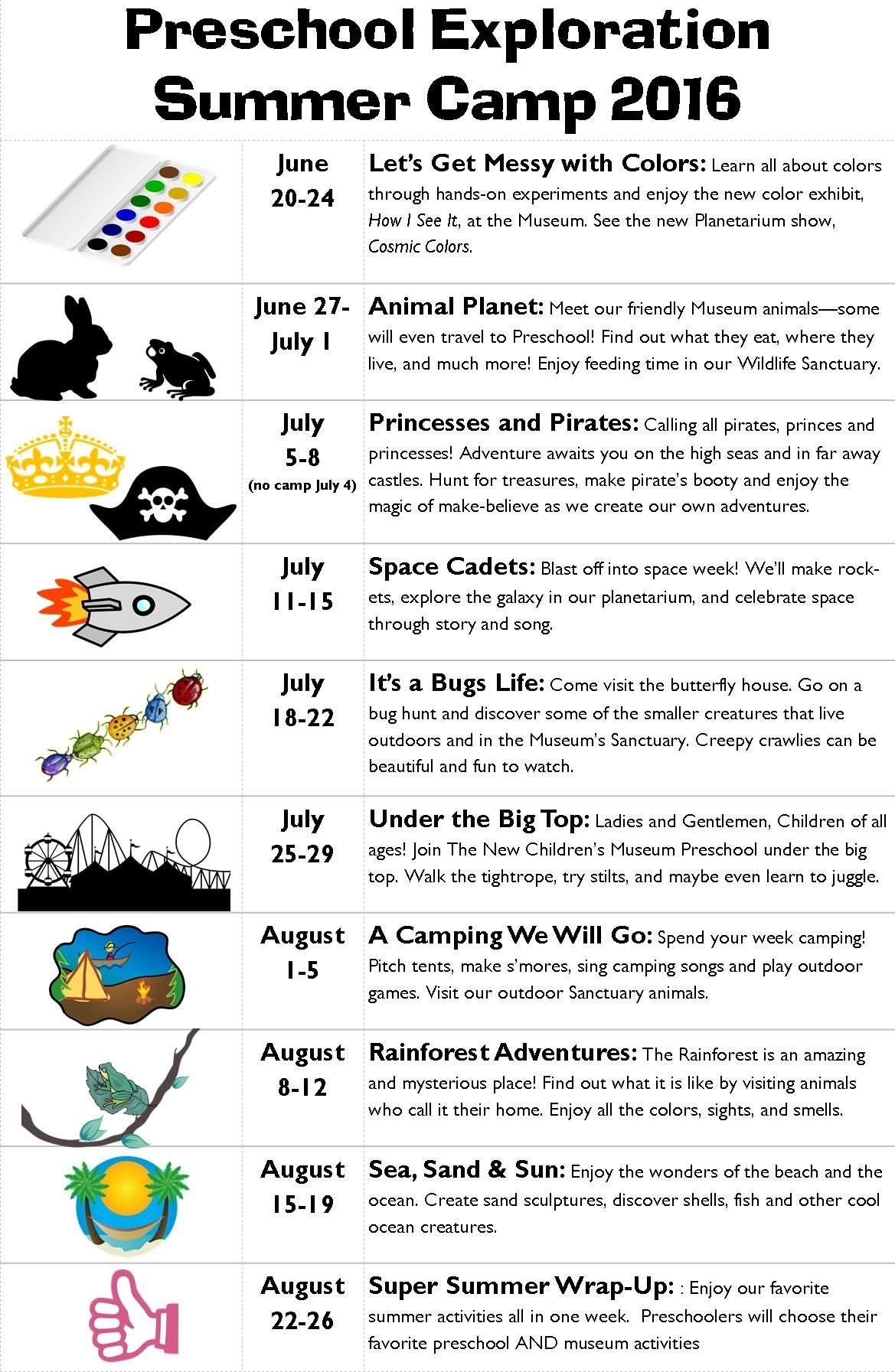 10 Great Summer Camp Theme Week Ideas