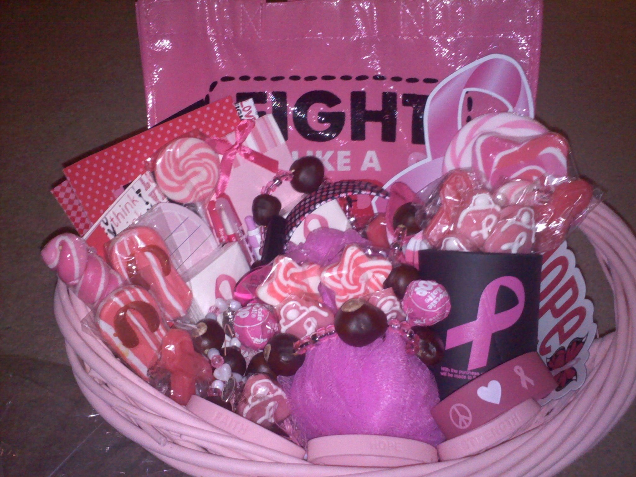 10 Famous Gift Ideas For Breast Cancer Patients cancer survivor party ideas breast cancer awareness gift basket 1 2020