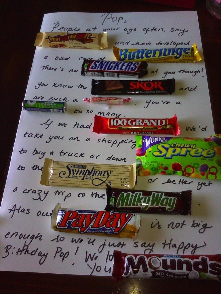 10 Attractive 40 Year Old Gift Ideas candy bar poem birthday card poster for someones birthday best 2020