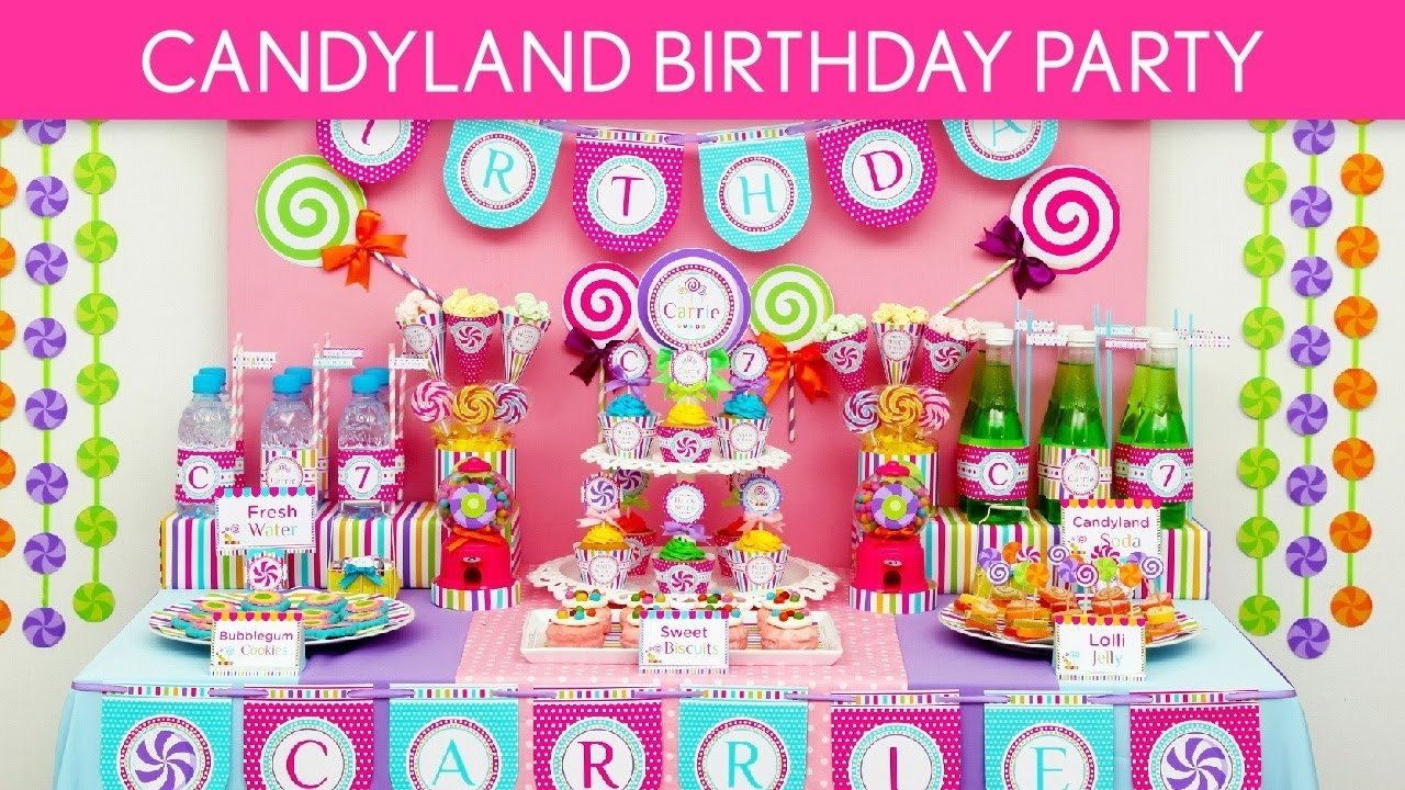 candy birthday party ideas // candyland - b39 - youtube