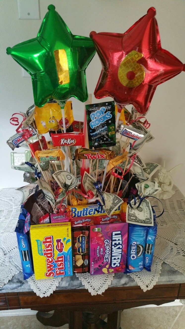 10 Famous Ideas For 16Th Birthday Boy Candy Bouquet Boys 16th My Creations