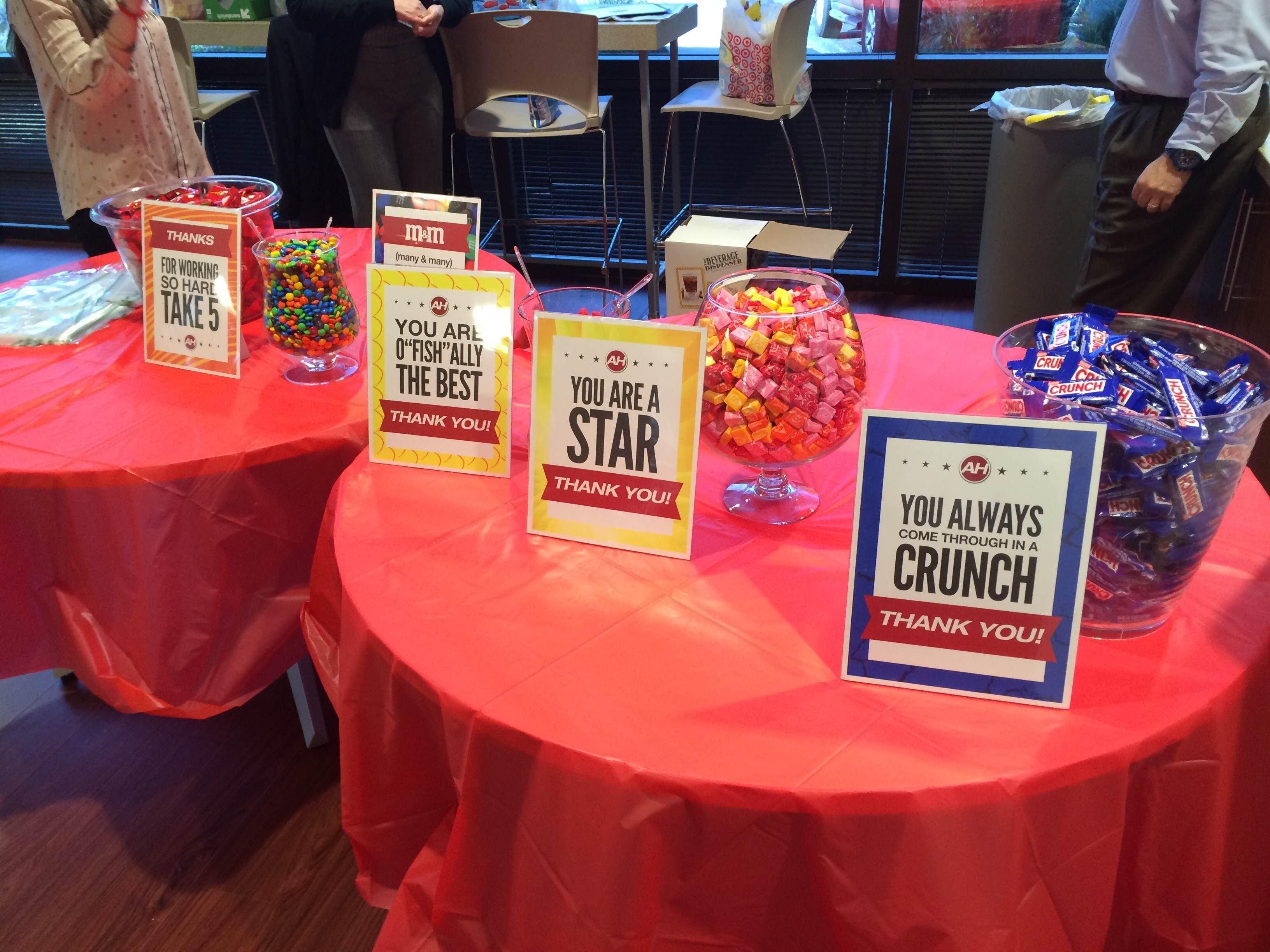 candy buffet for customer service appreciation week | eotech sights