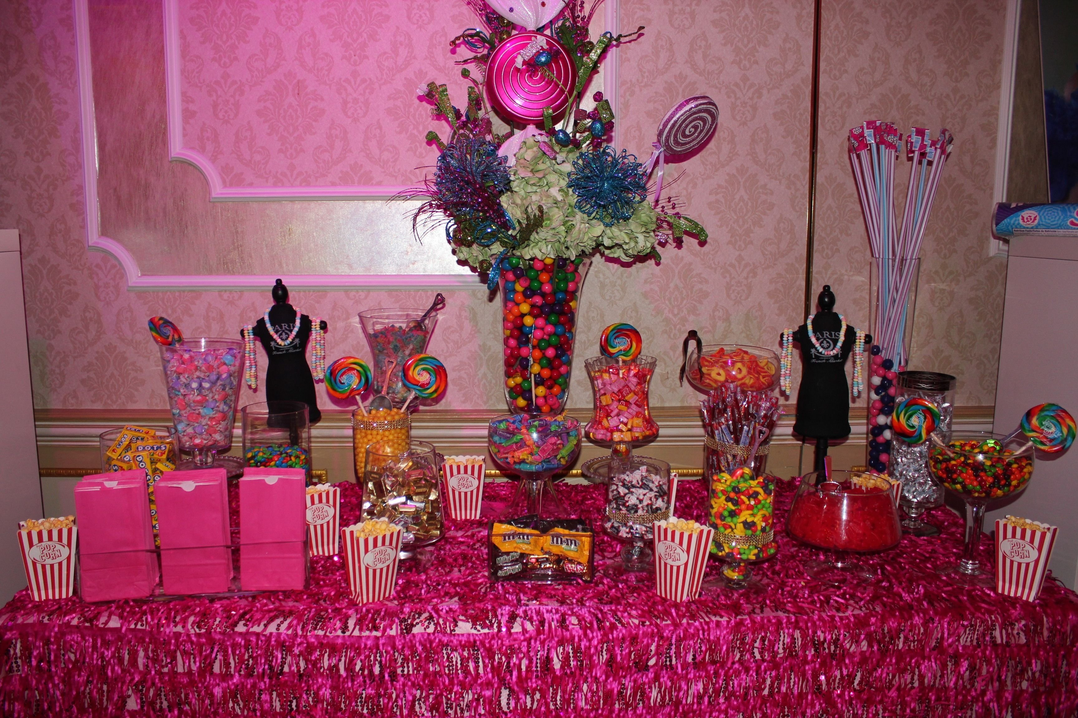 10 Amazing Sweet 16 Table Decoration Ideas candy buffet table decor sweet 16 candy theme pinterest candy 2020