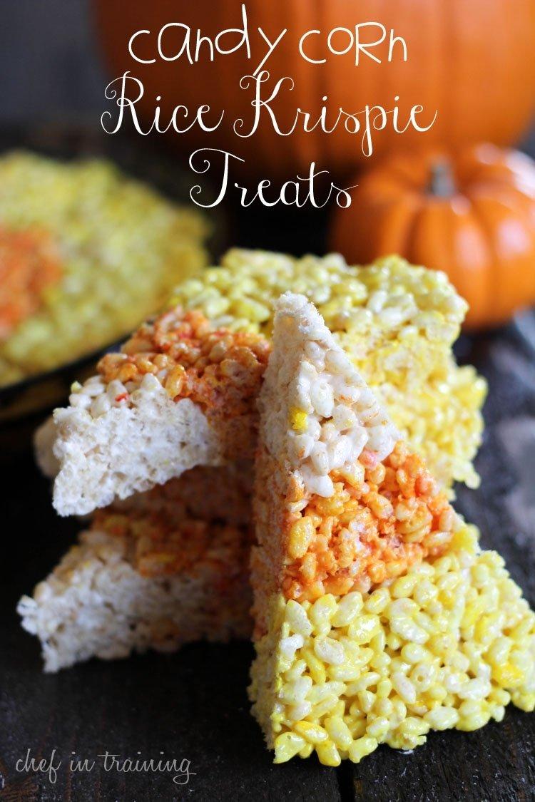 10 Great Halloween Rice Krispie Treat Ideas candy corn rice krispie treats chef in training 2020