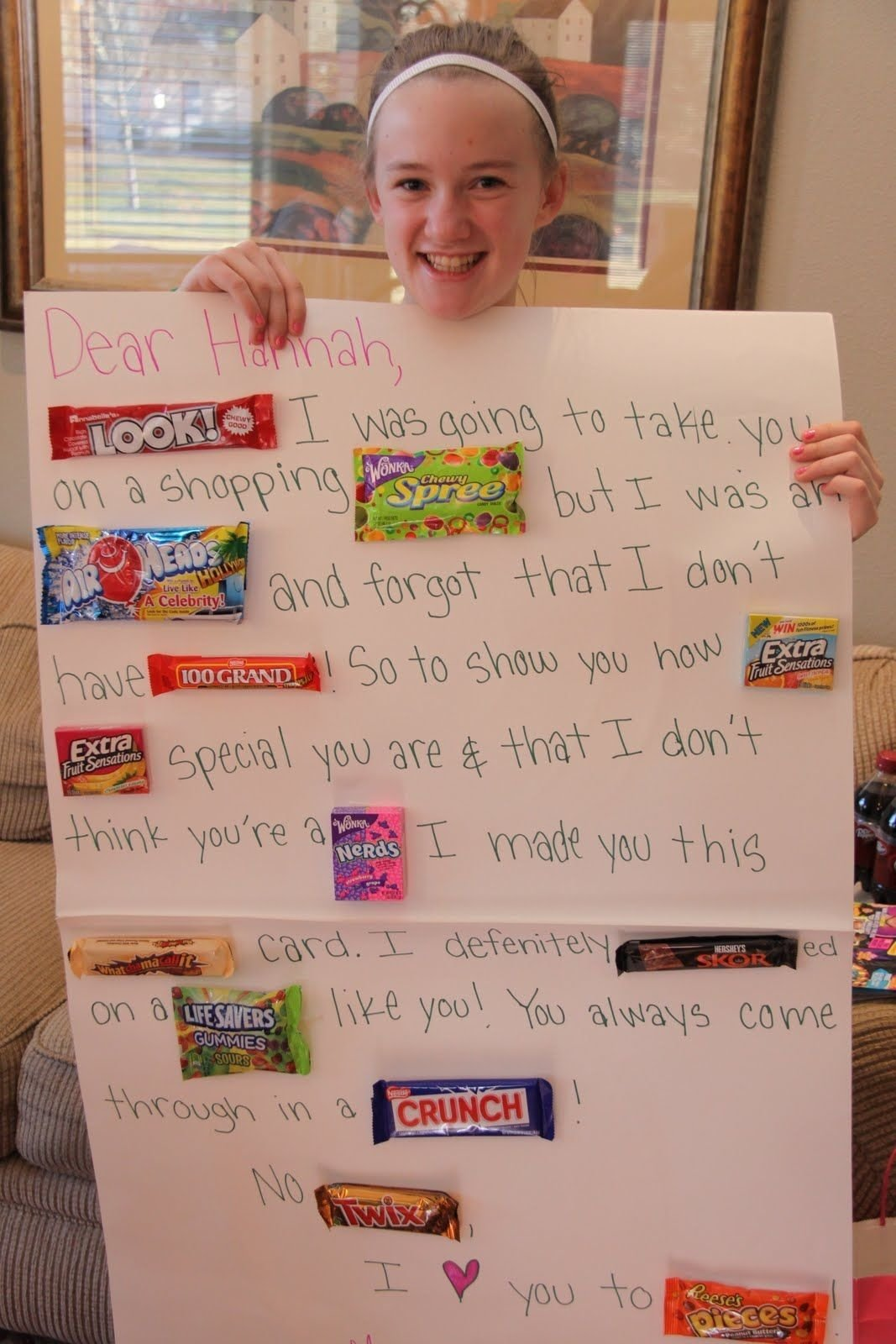10 Attractive Creative Gift Ideas For Best Friend candy gram this is soo cute holiday ideas pinterest candy 1 2021