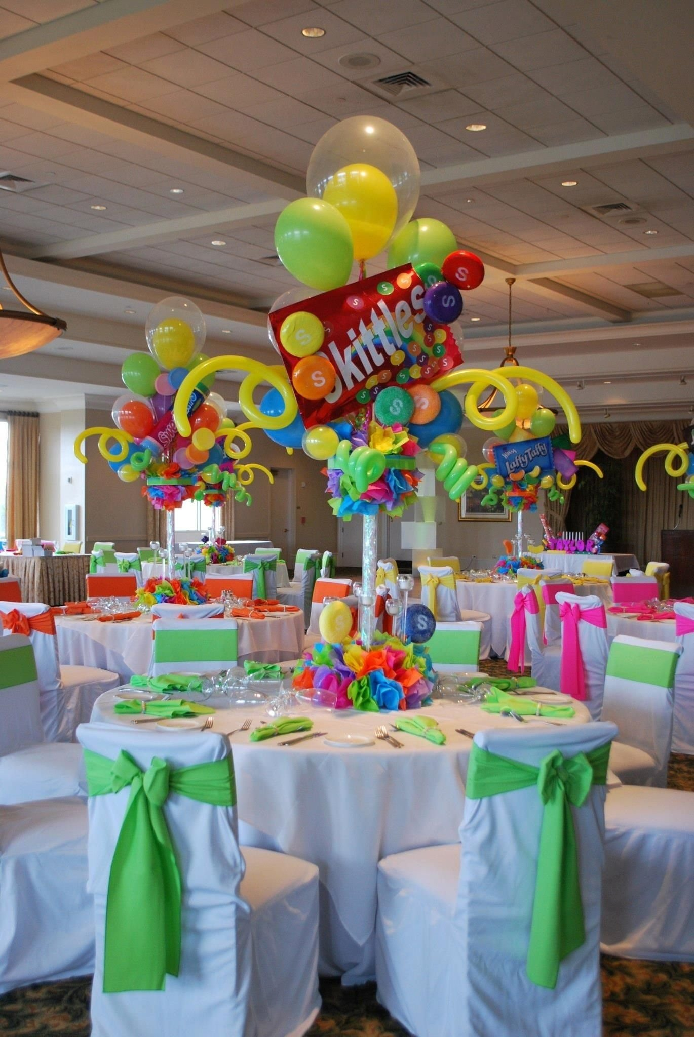 10 Fabulous Themed Birthday Party Ideas For Adults candy themed bat mitzvah event decor adult centerpieces party 3