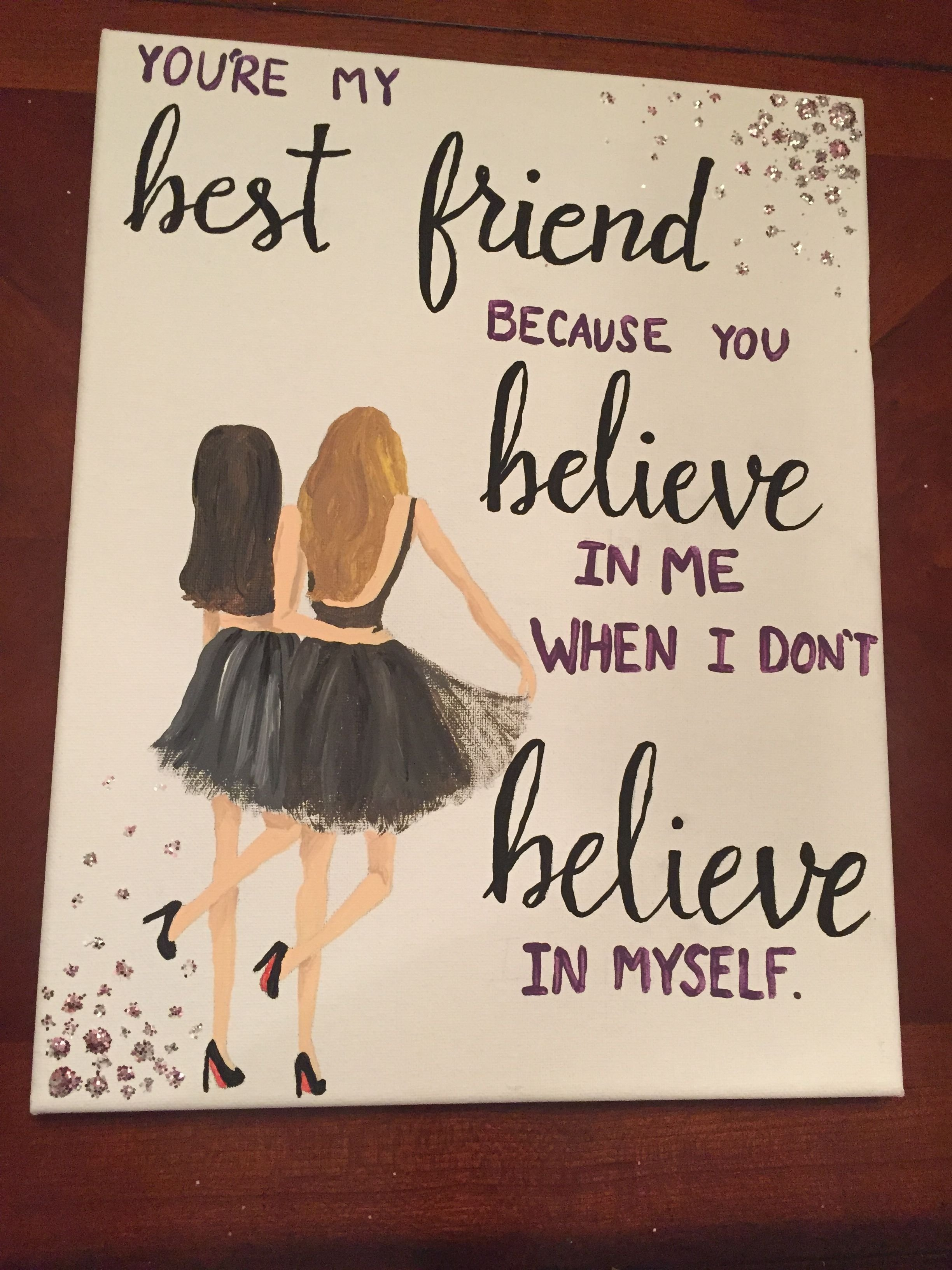 10 Fabulous Diy Gift Ideas For Friends canvas for best friend quote painting diy my sorority crafts 1